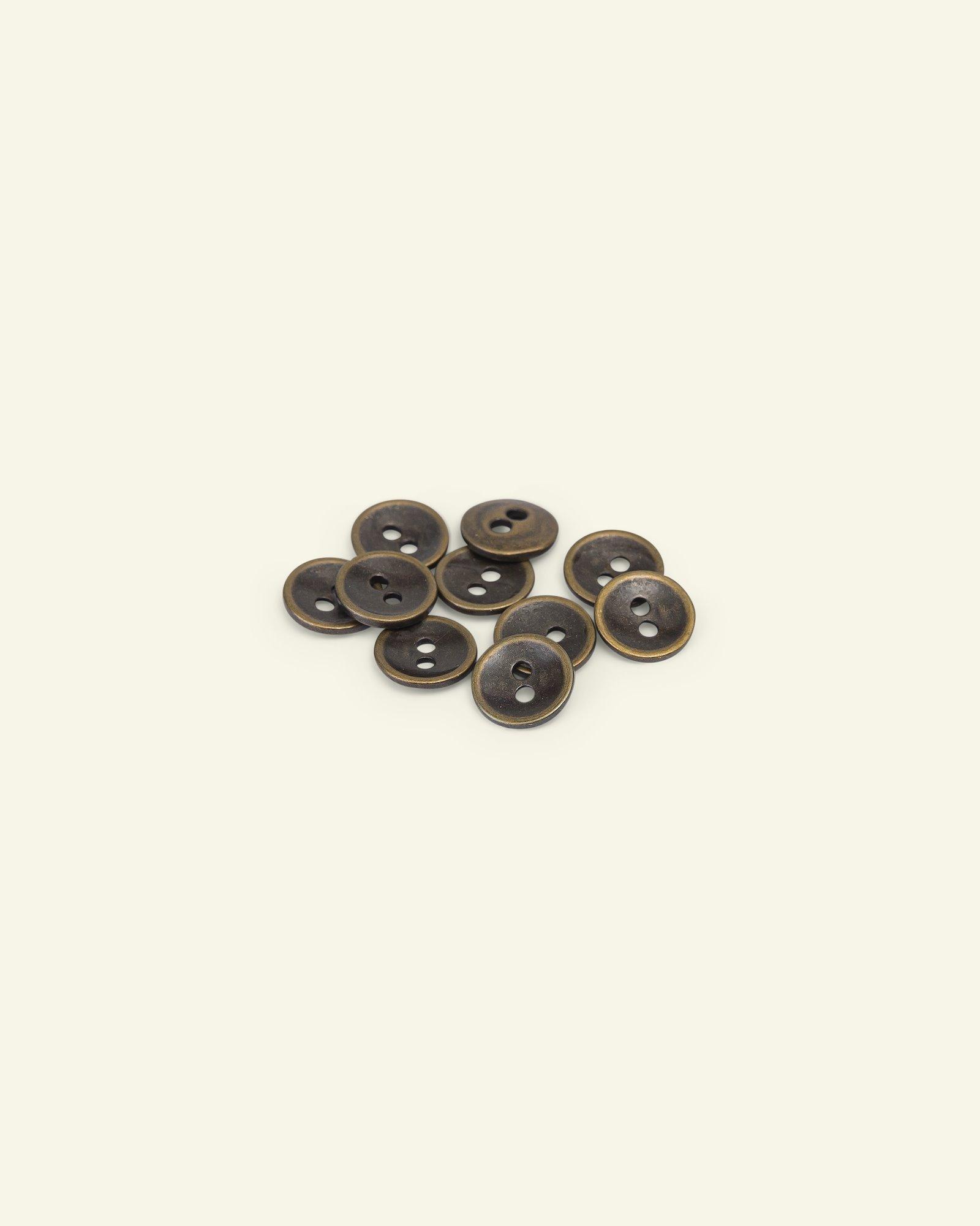 Button 2-holes metal 11mm gold 10pcs