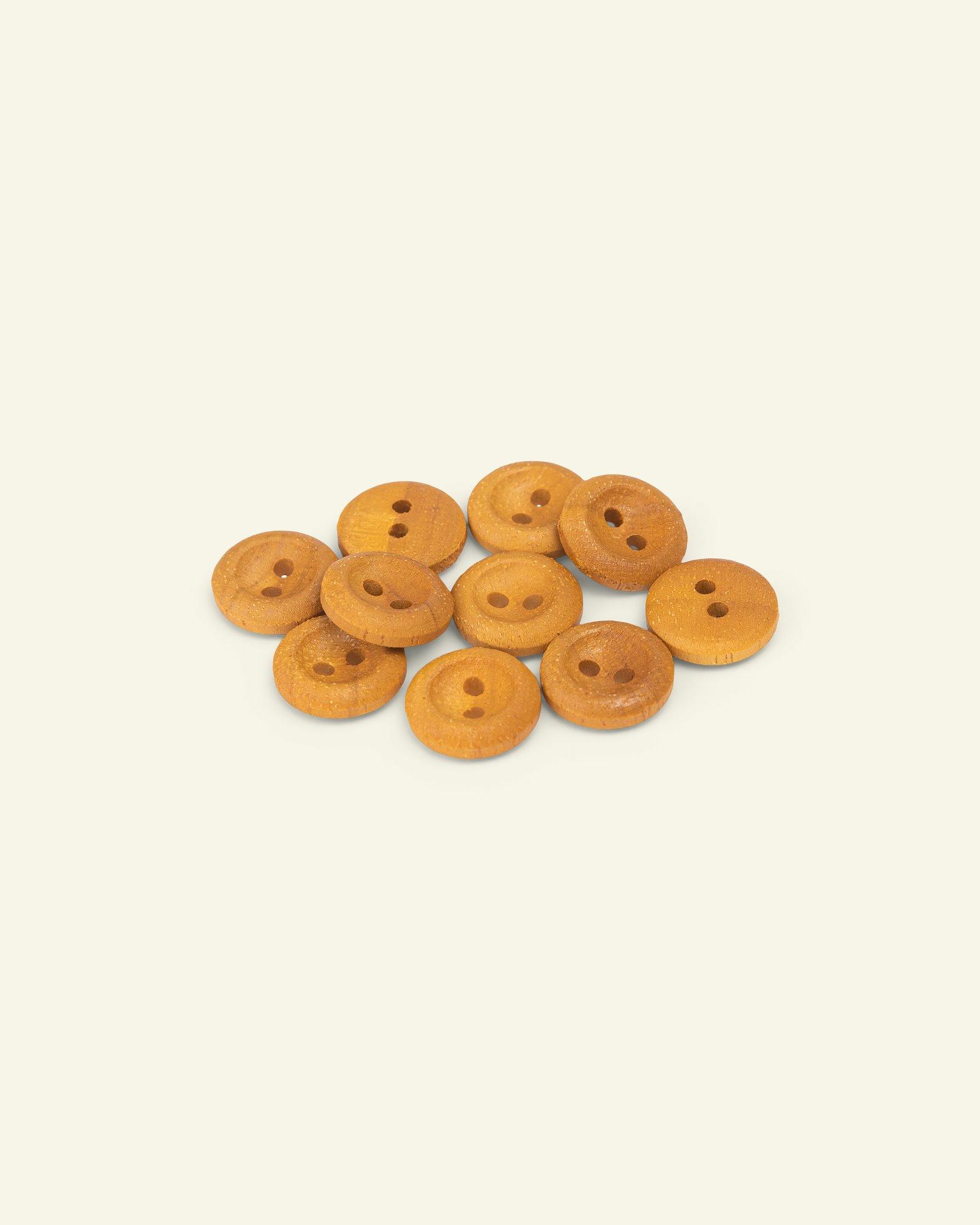 Button 2-holes wood w/rim 15mm 10pcs