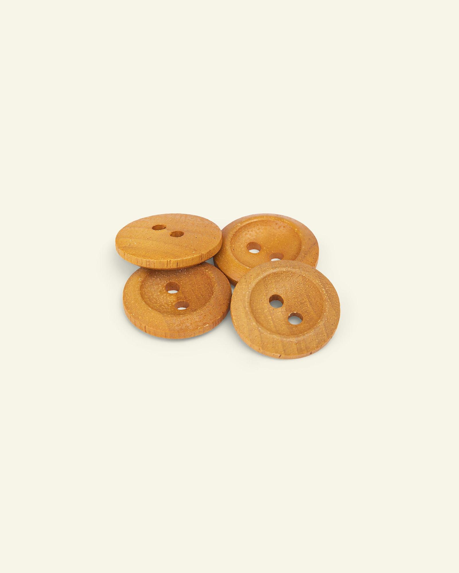 Button 2-holes wood w/rim 26mm 4pcs