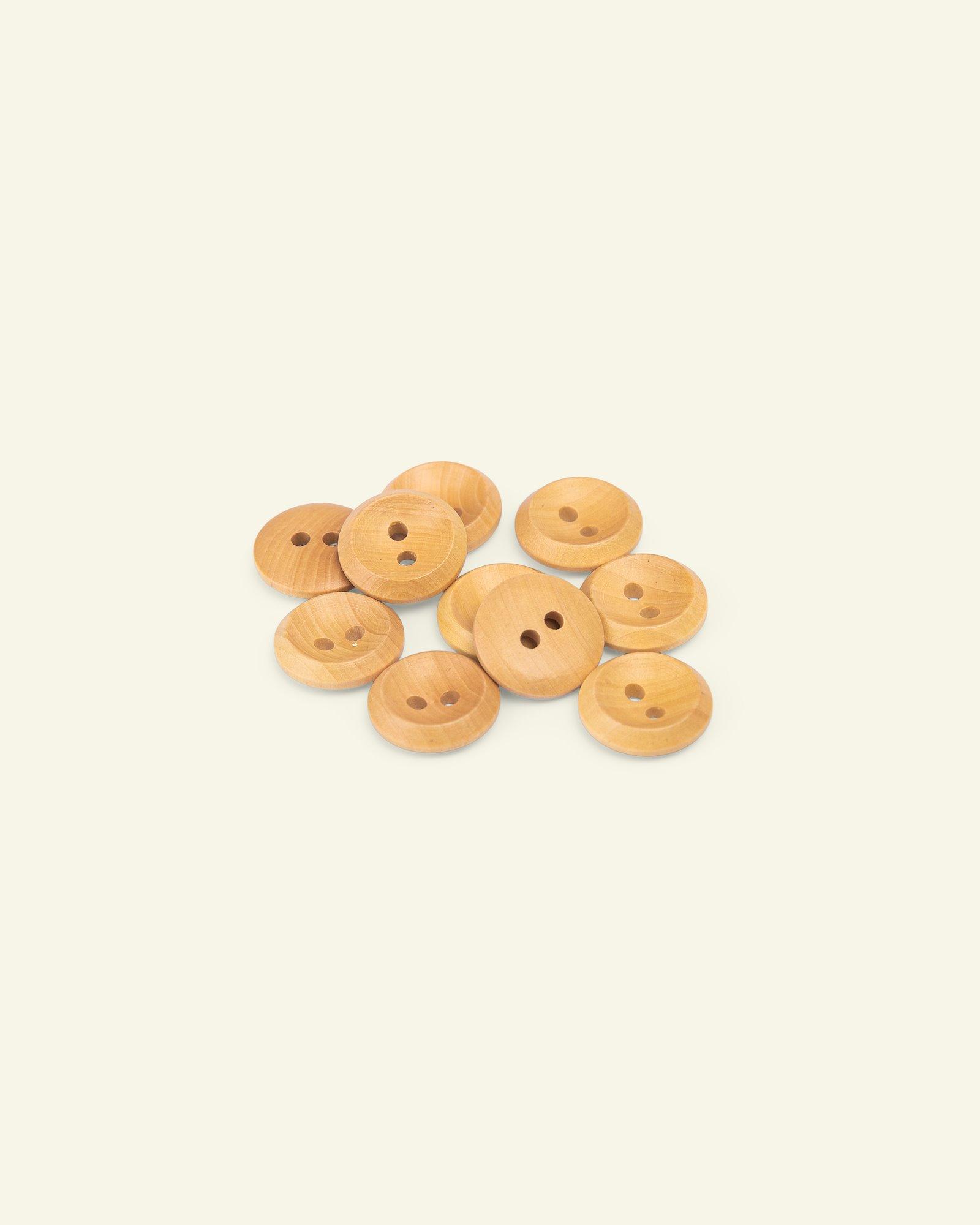Button 2-holes olive w/rim 15mm 10pcs