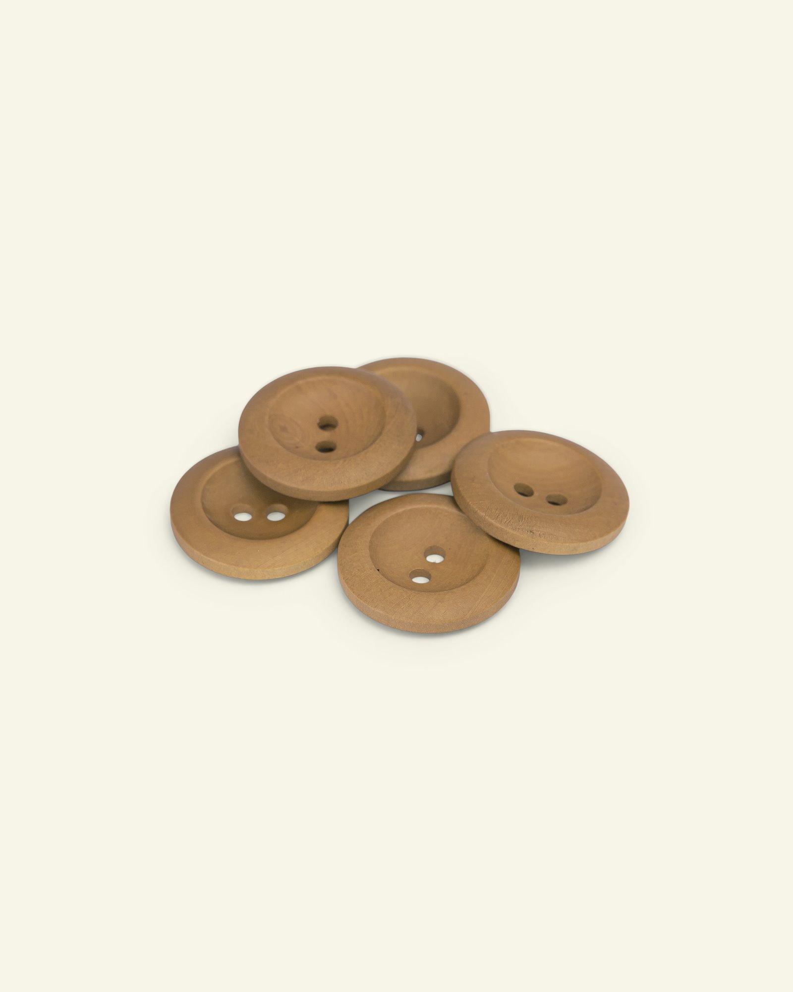 Button 2-holes olive w/rim 25mm 5pcs