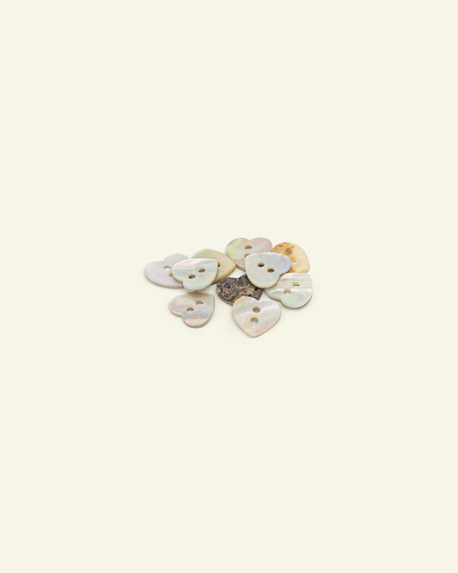 Button 2-holes pearl look 10mm 10pcs