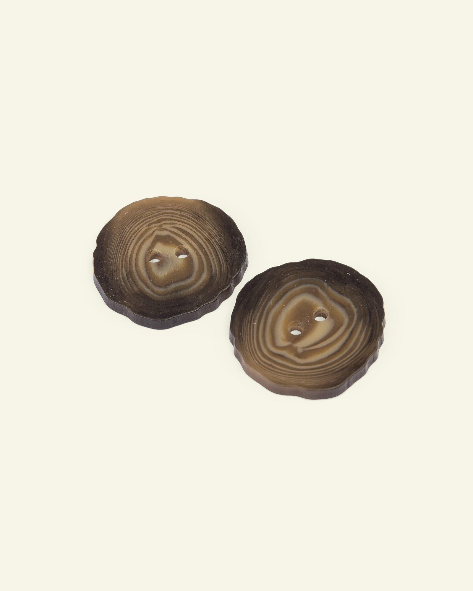 Button 2-holes wood look 35mm 2pcs