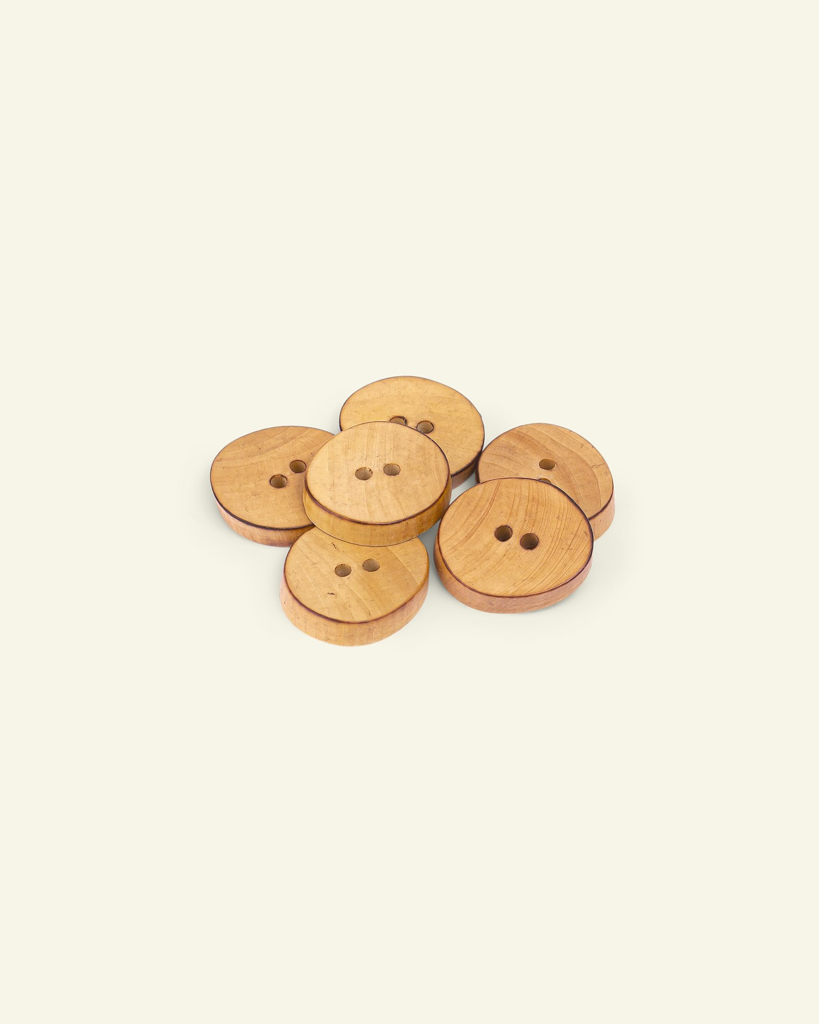 Button 2-holes wood oval 18mm 6pcs