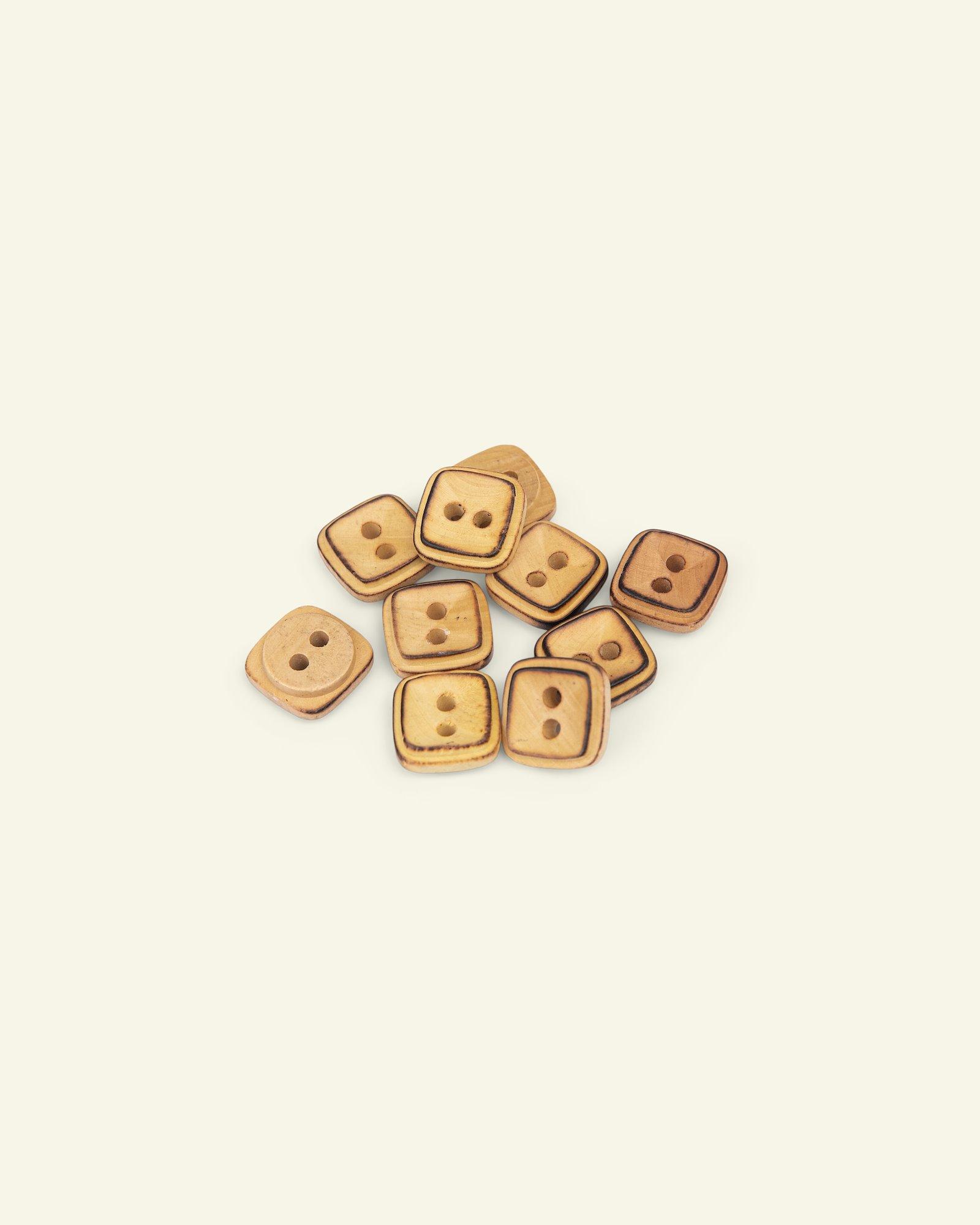 Button 2-holes wood square 9mm 10pcs