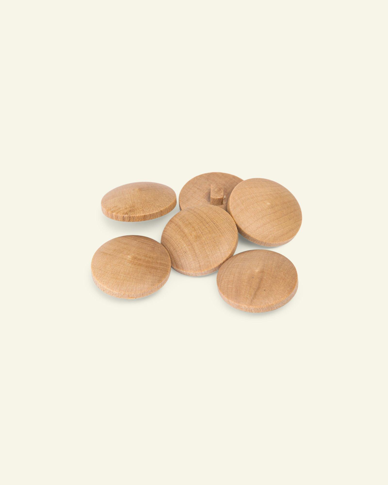 Shank button wood 22mm 6pcs