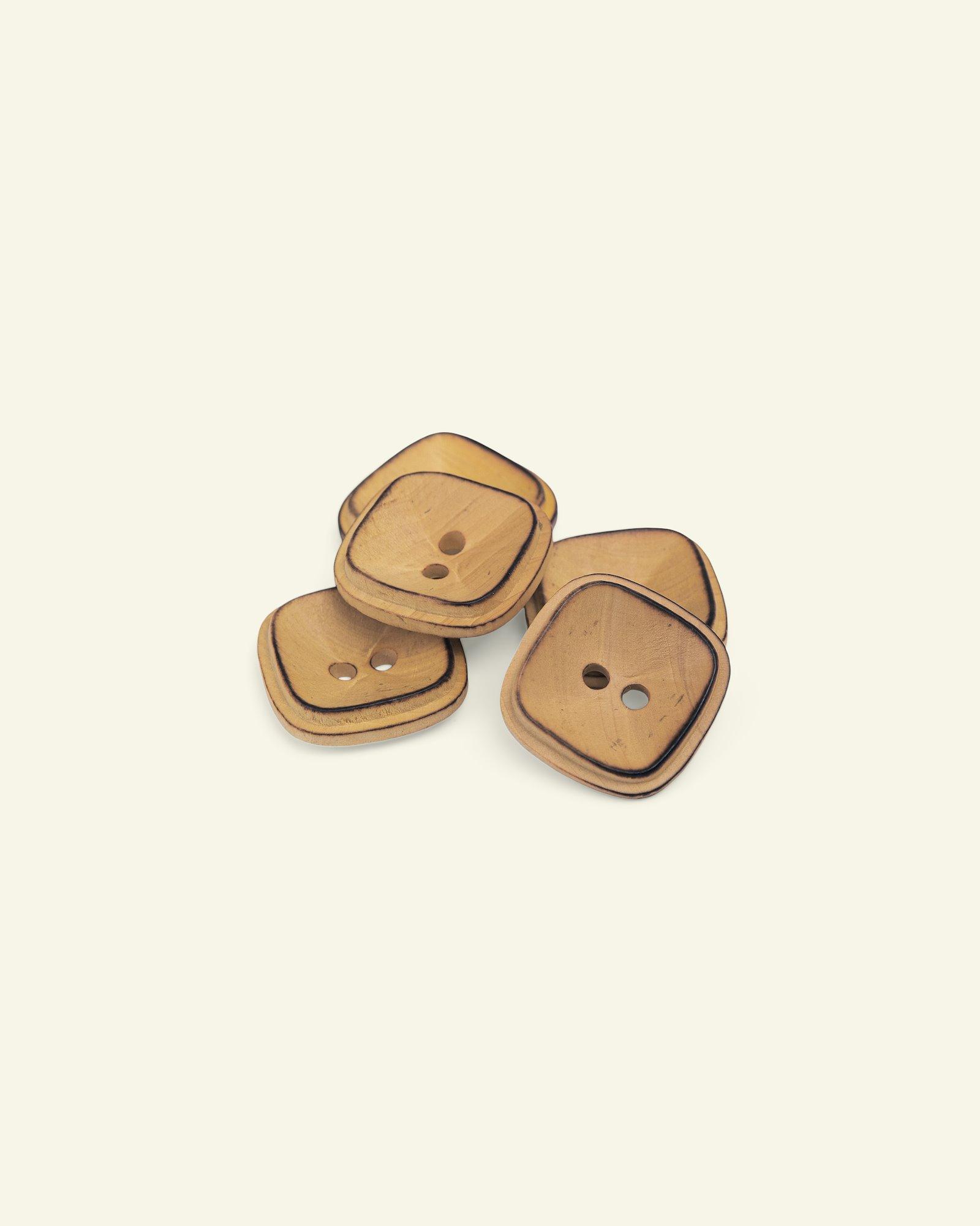 Button 2-holes wood square 22mm 5pcs