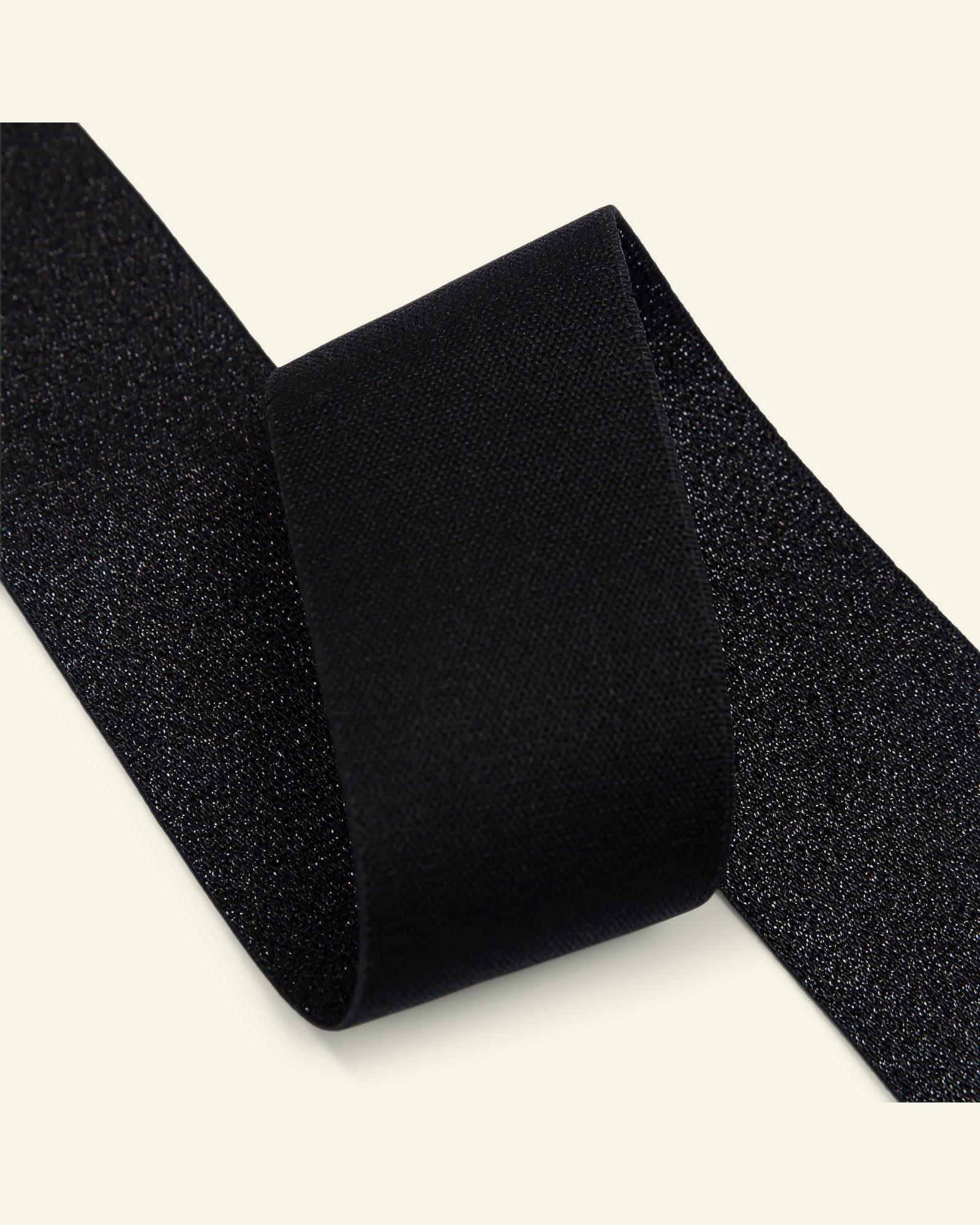 Elastic 38mm black lurex 2m