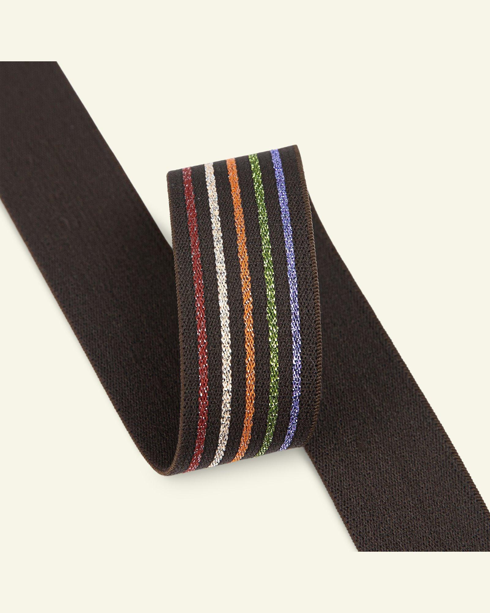 Elastic striped 29mm brown 2m