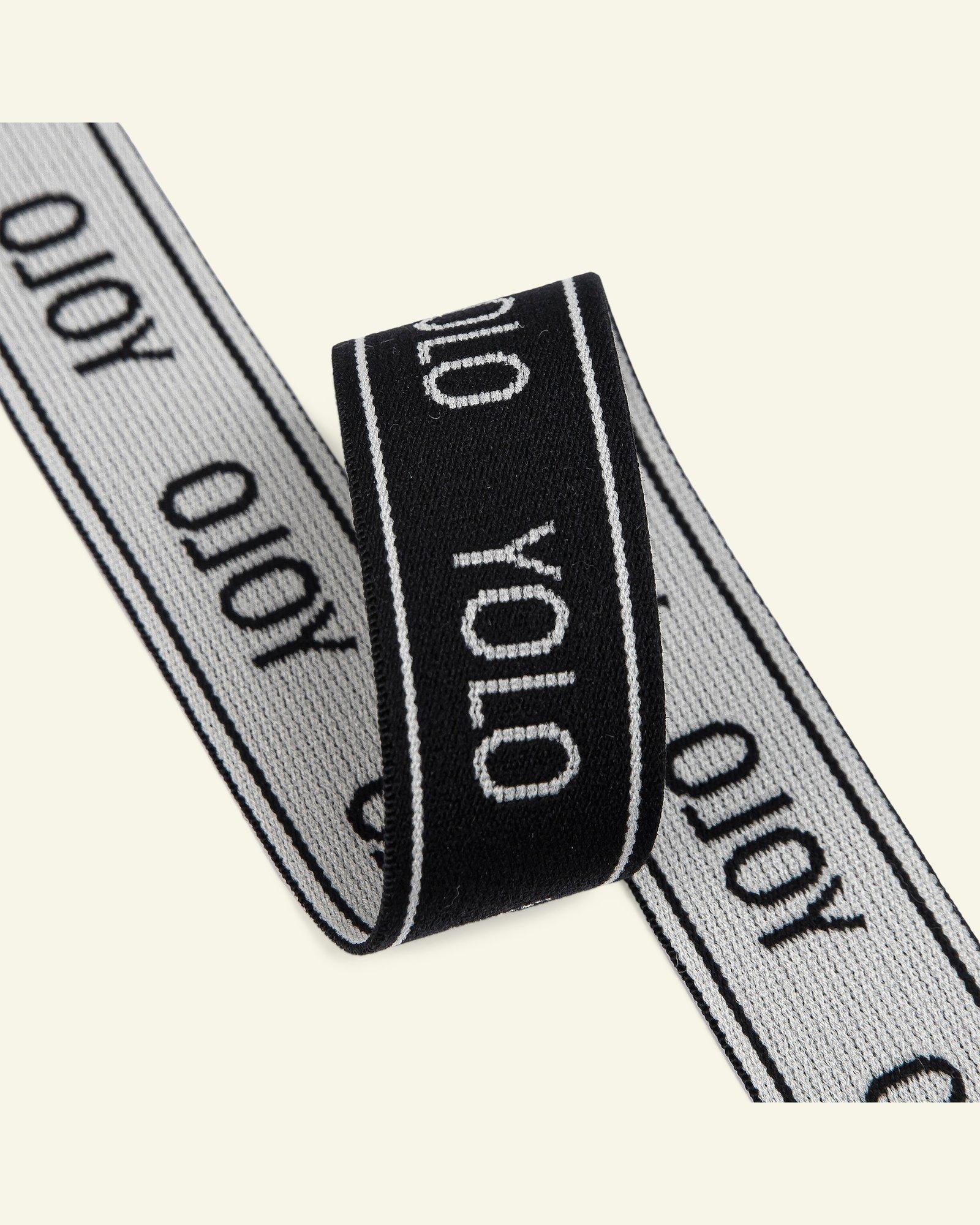 Elastic YOLO 29mm black/white 2m