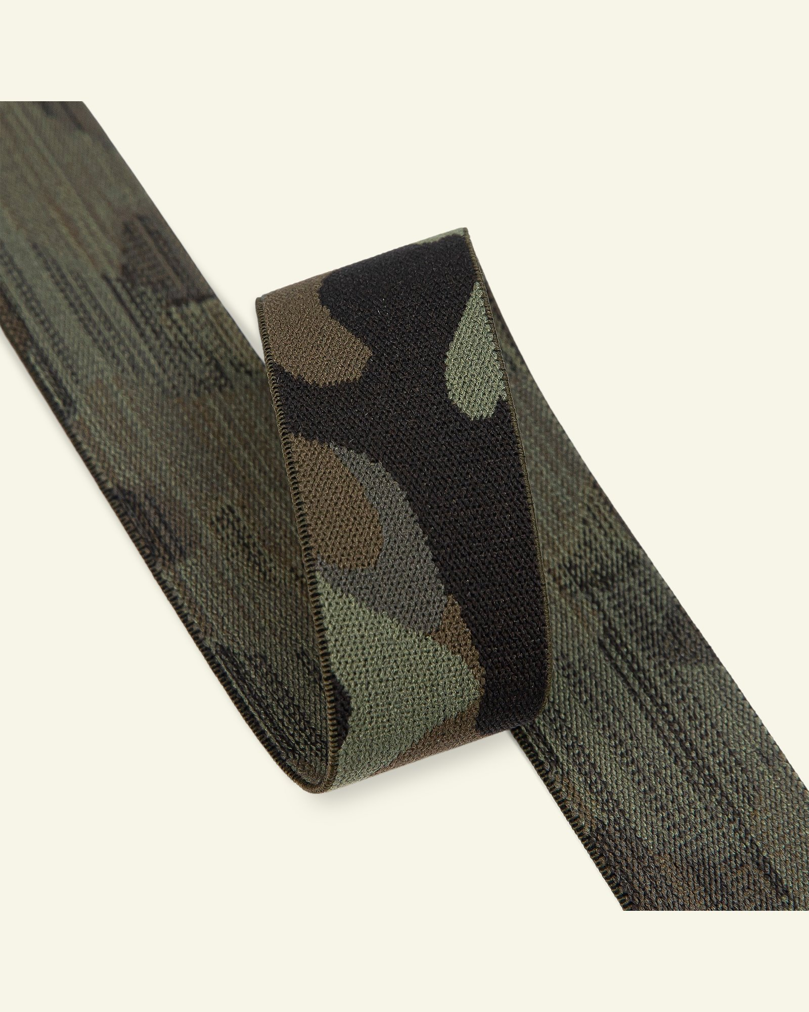 Elastic camouflage 29mm army green 2m