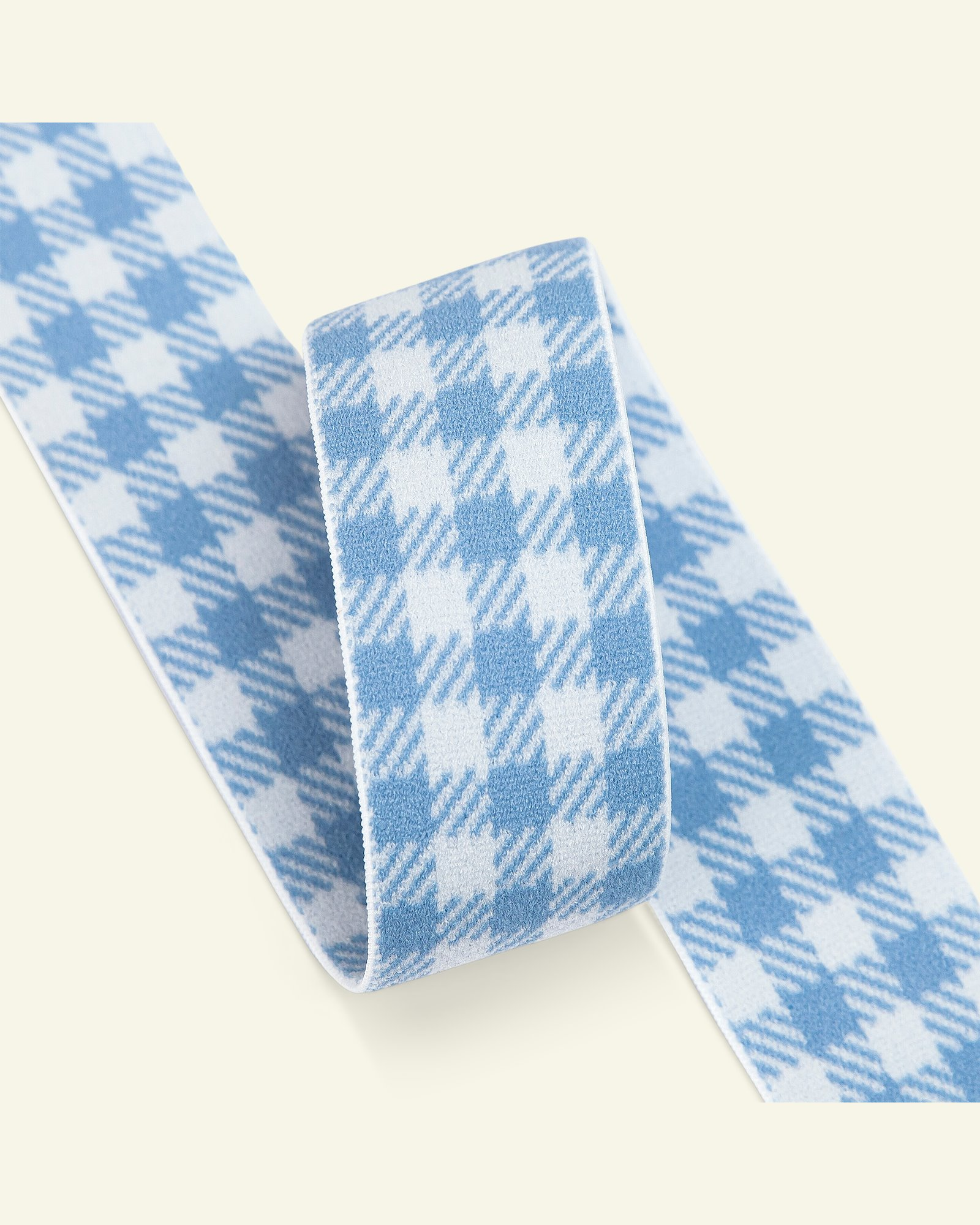 Elastic check 31mm pastel blue 2m