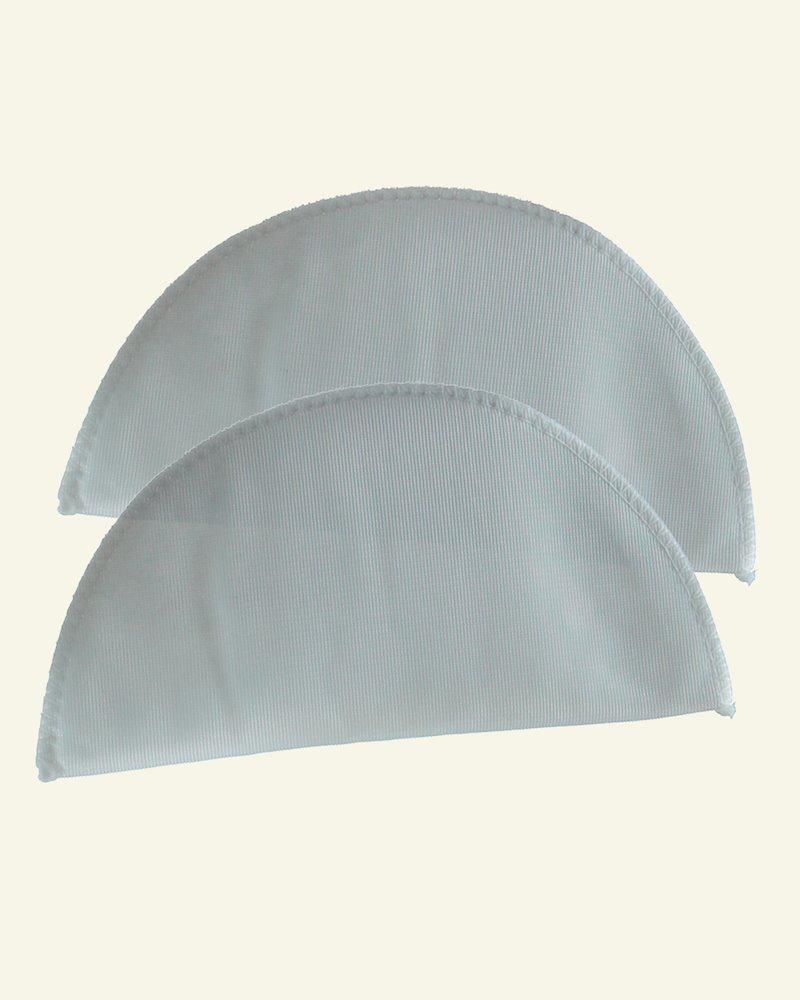 Shoulderpad 85mm narrow soft white 2pcs