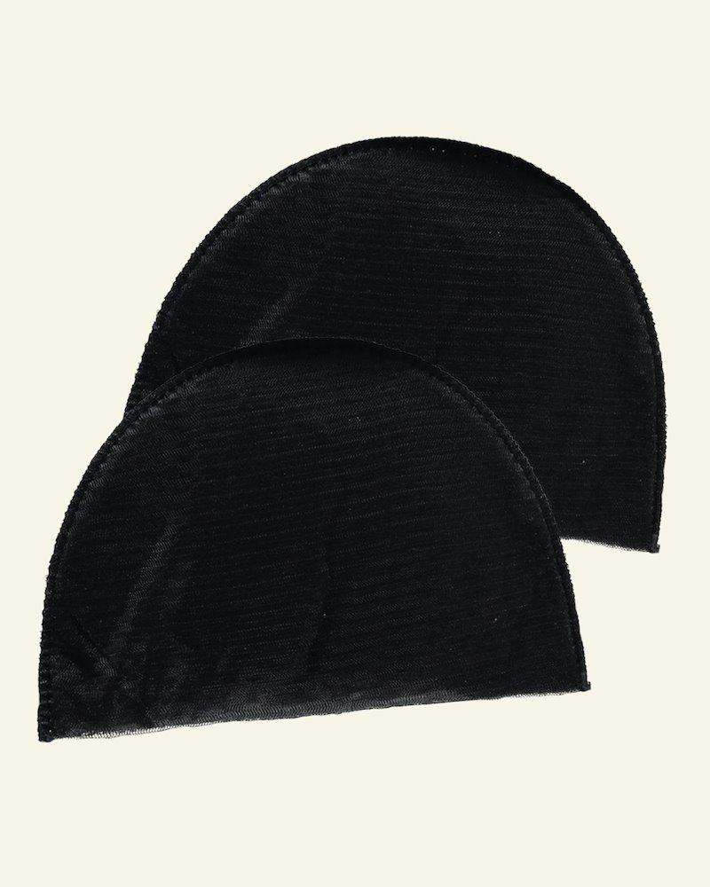 Shoulderpad regular soft black 2pcs