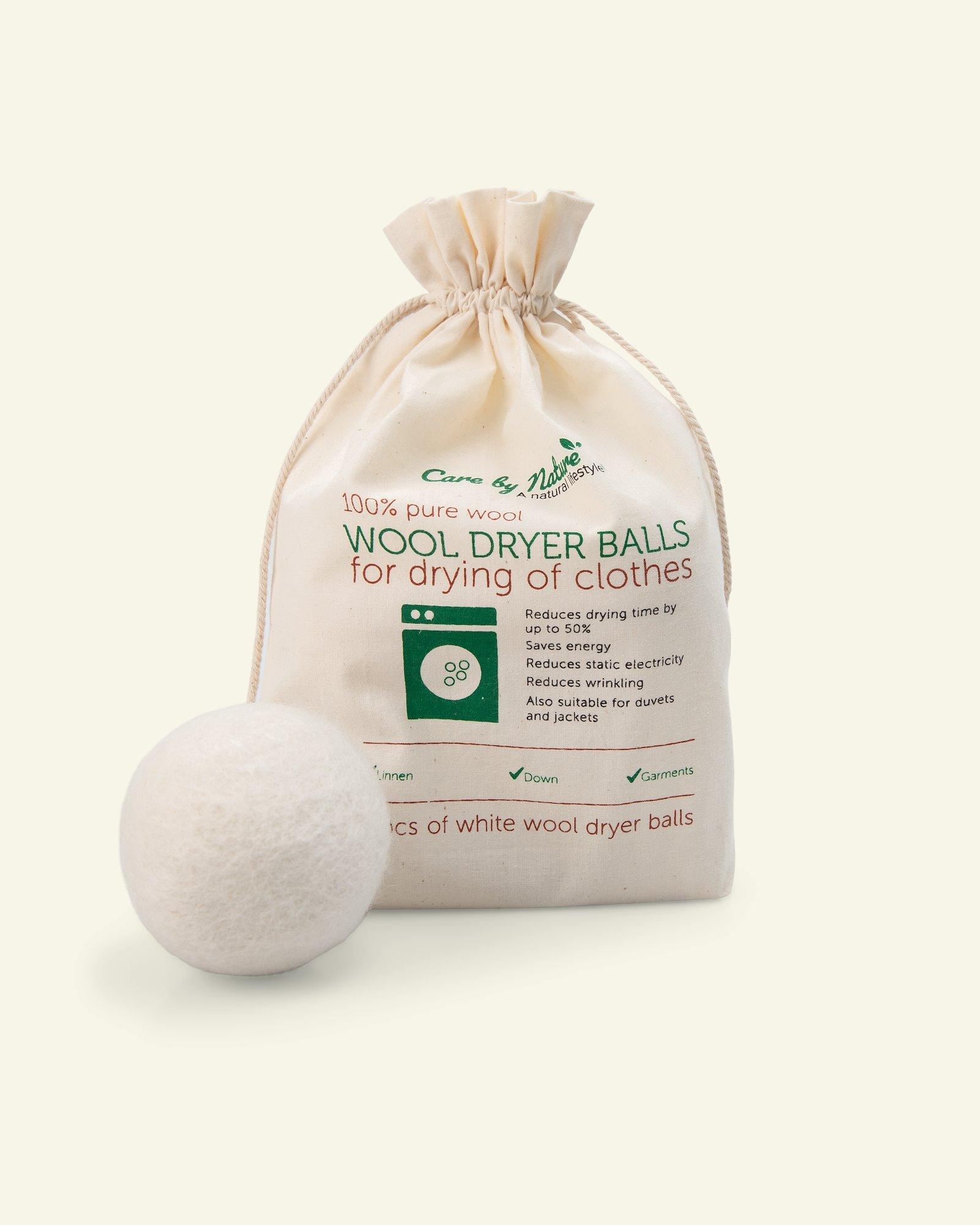 Wool dryer balls white 4pcs
