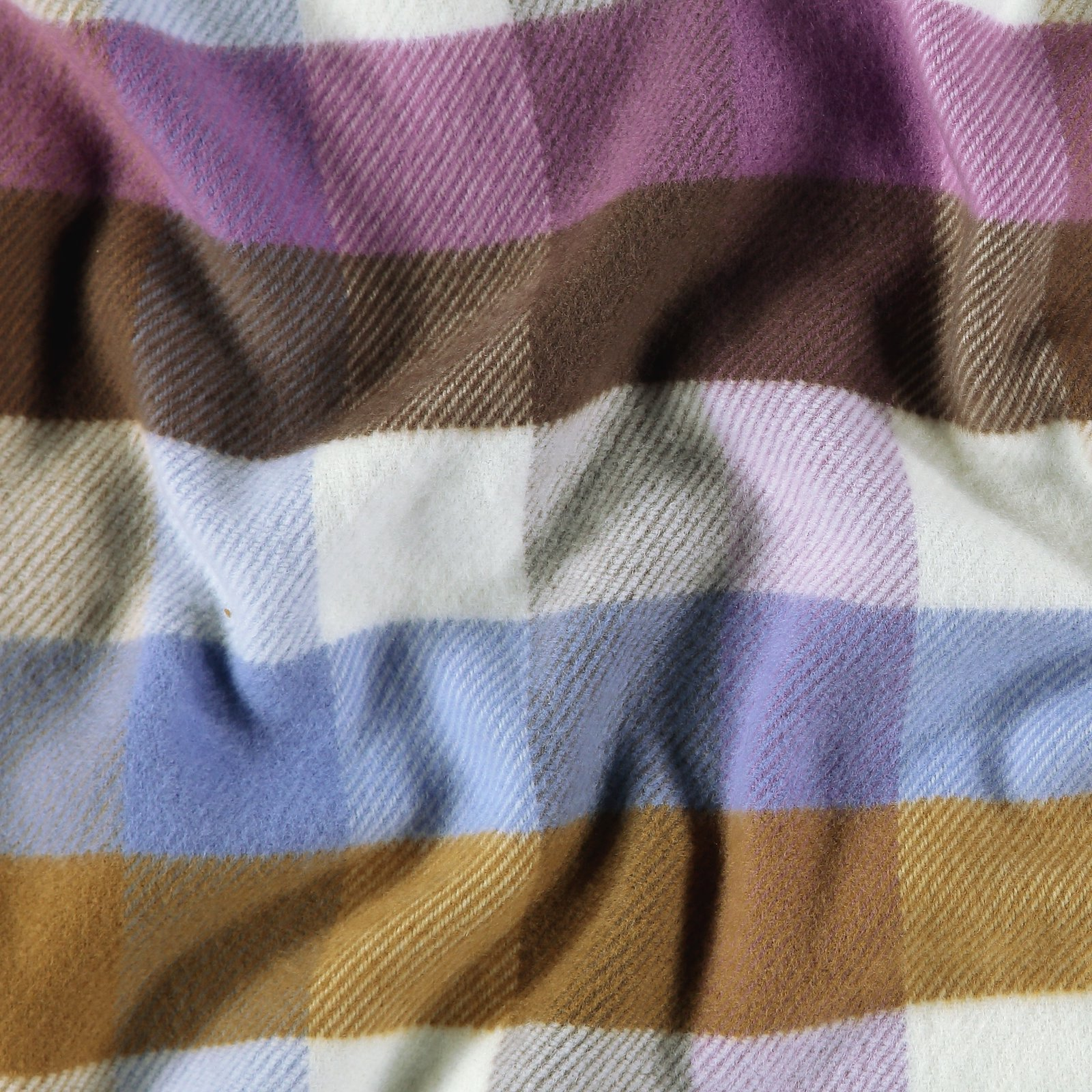 Woven YD check purple brushed surface