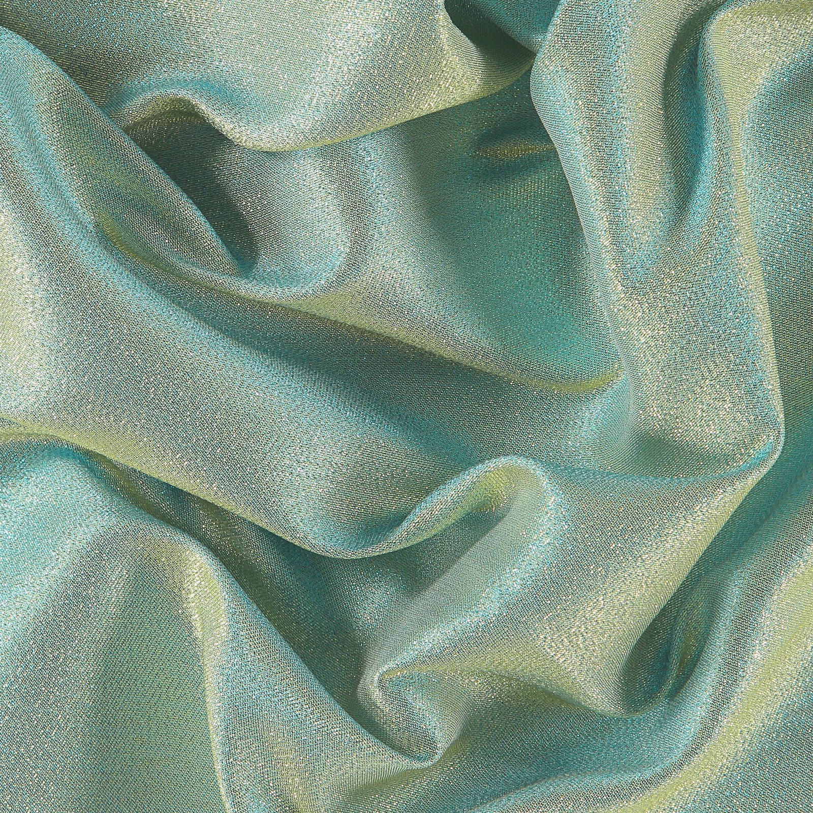 Woven jacquard with gold/blue lurex