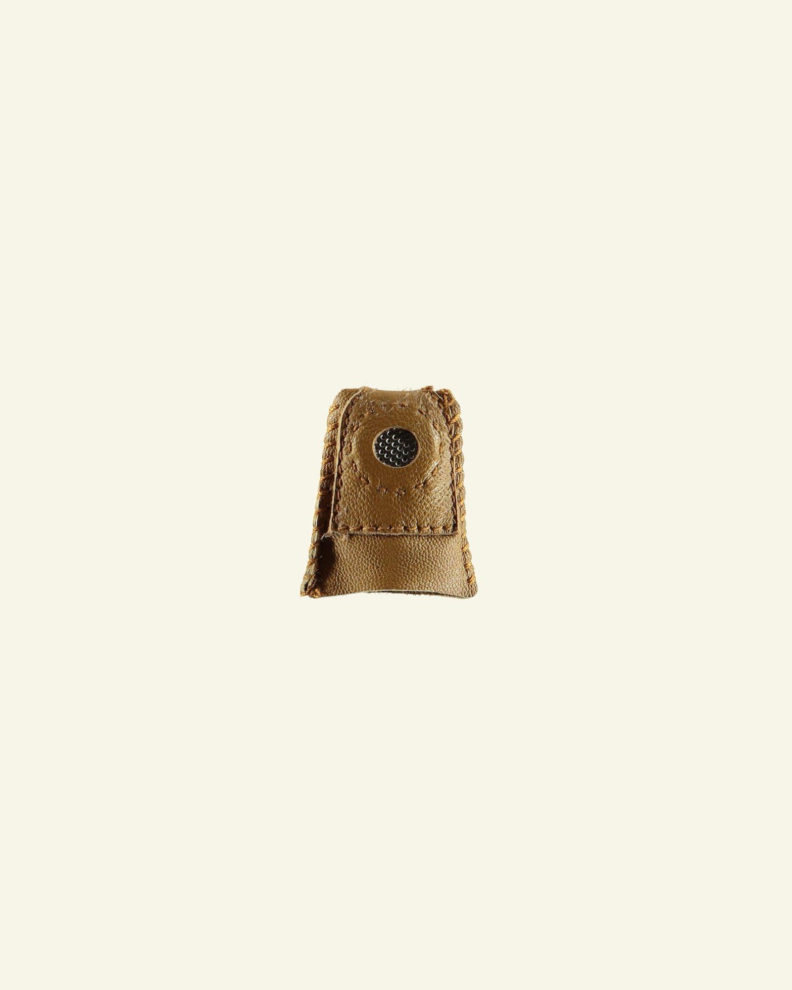 Thimble leather w/metal size M 1pcs