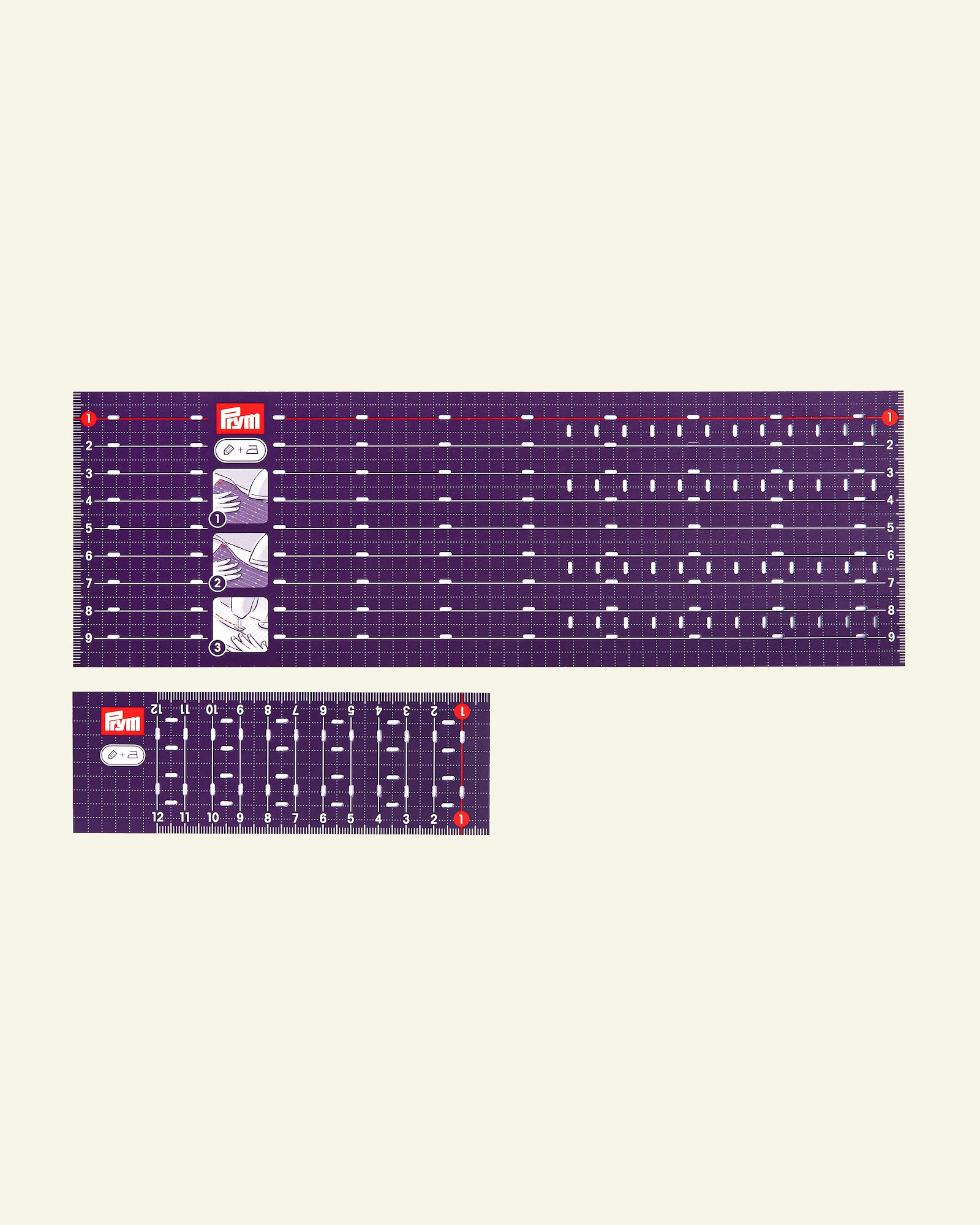 Prym ironing rulers 10x30 and 5x15cm 2pc