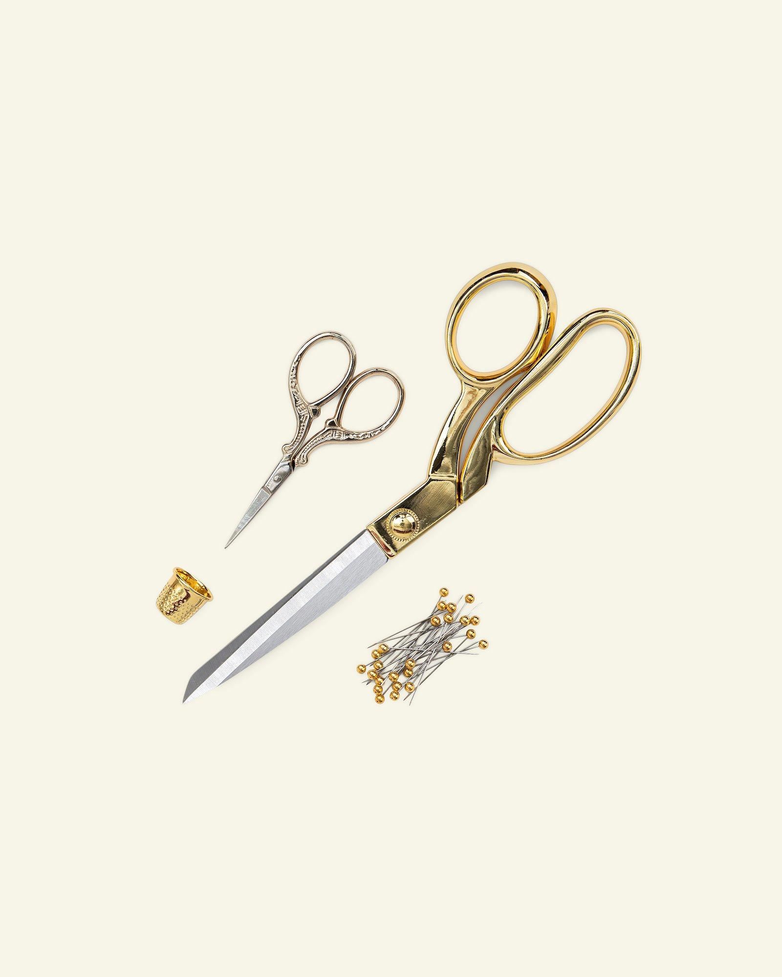 Pair of scissors 21cm/9cm gold