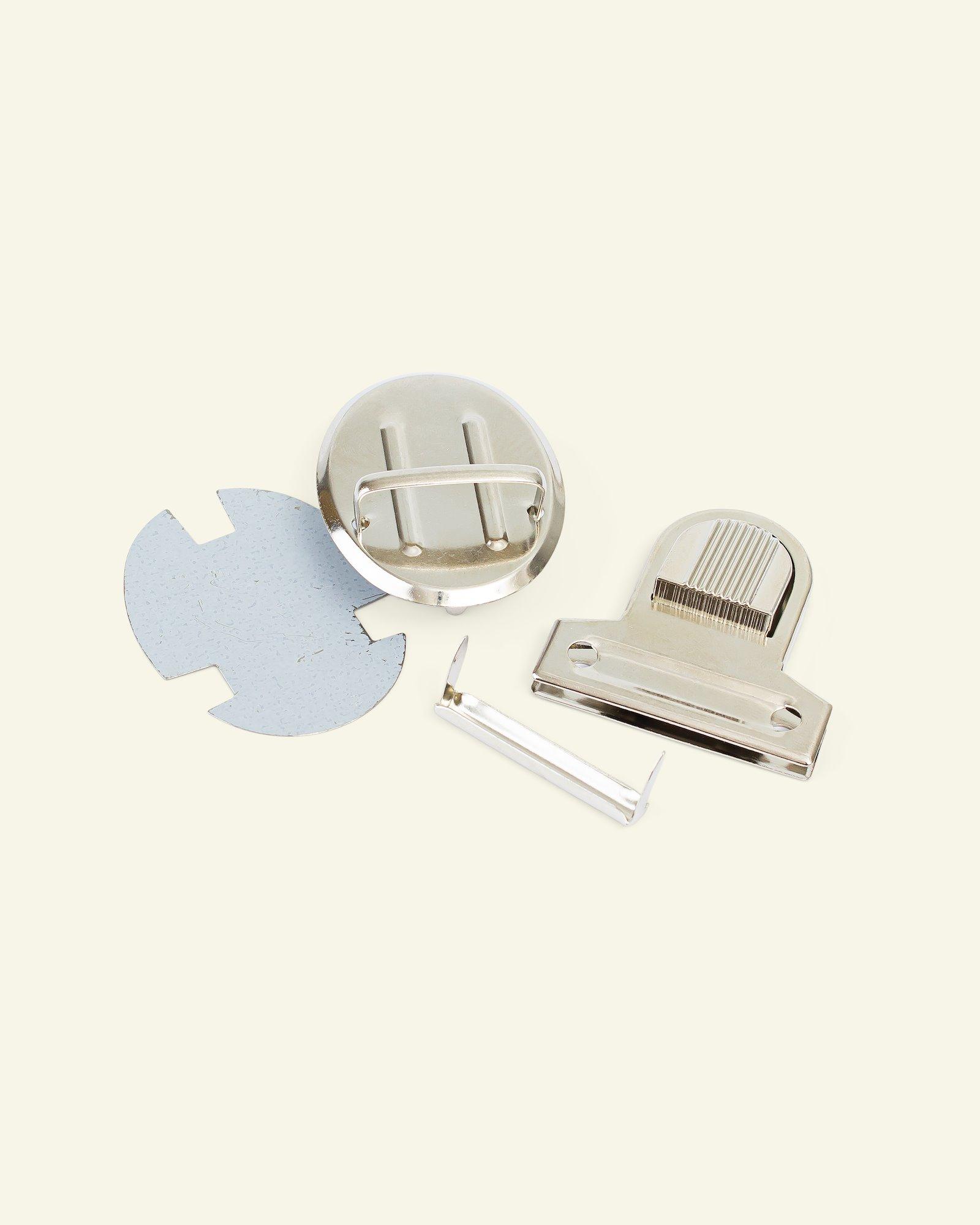Tuck lock metal 44x45mm silver 1pc