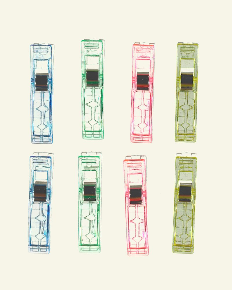 Wonder clips 56x12mm 4 colors 8 pcs