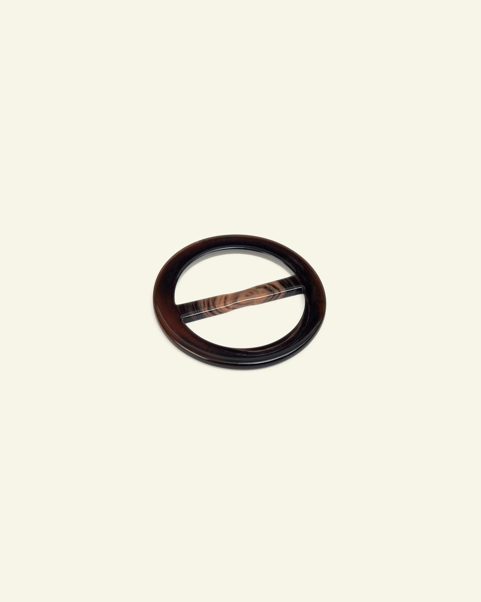 Beltbuckle round 57/40mm dark brown 1 pc