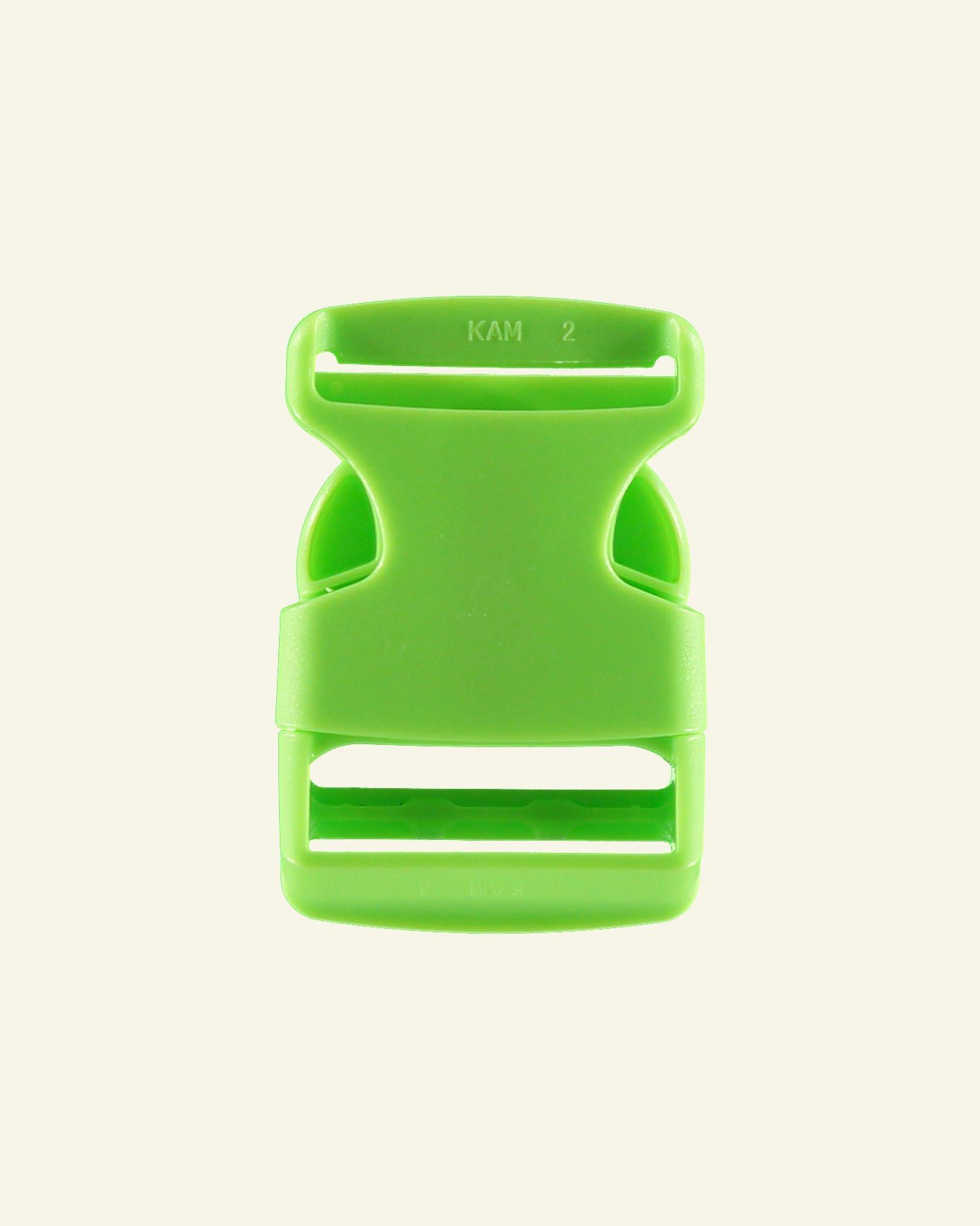 Belt buckle 32mm neon green 1pc