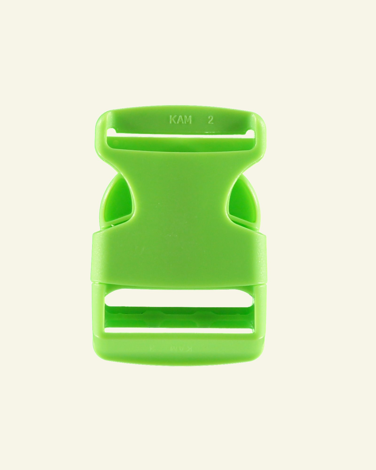 Belt buckle 38mm neon green 1pc