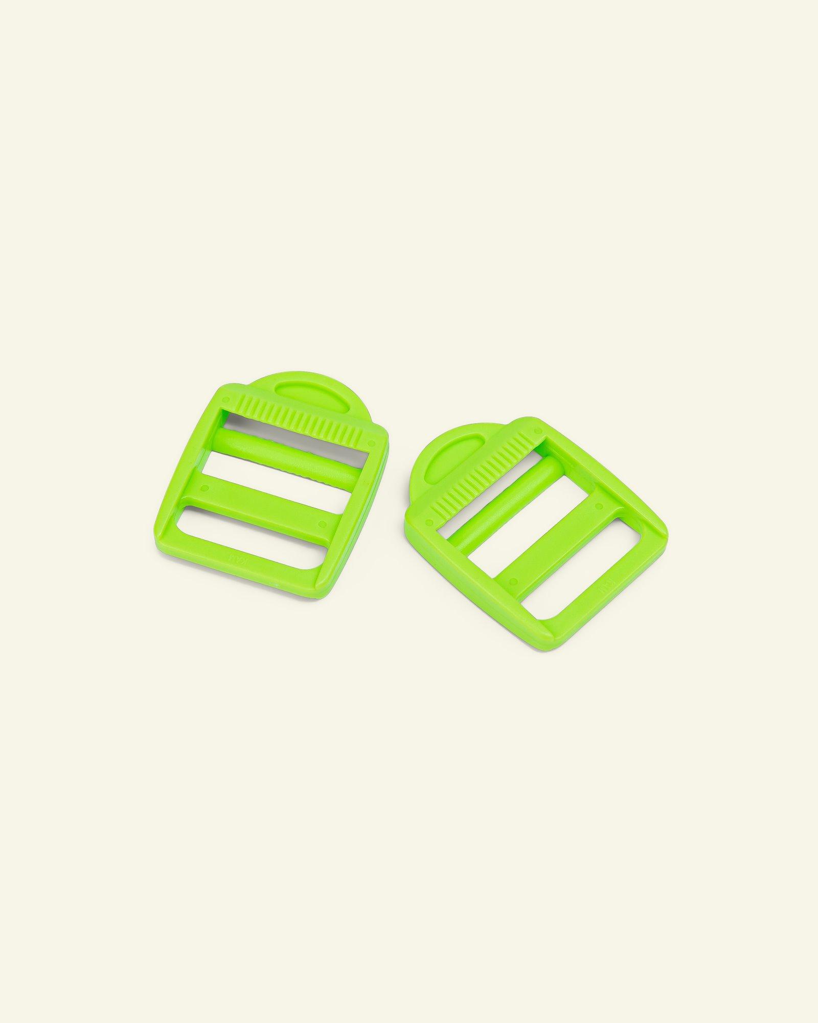 Buckle regulation 30mm neon green 2pcs