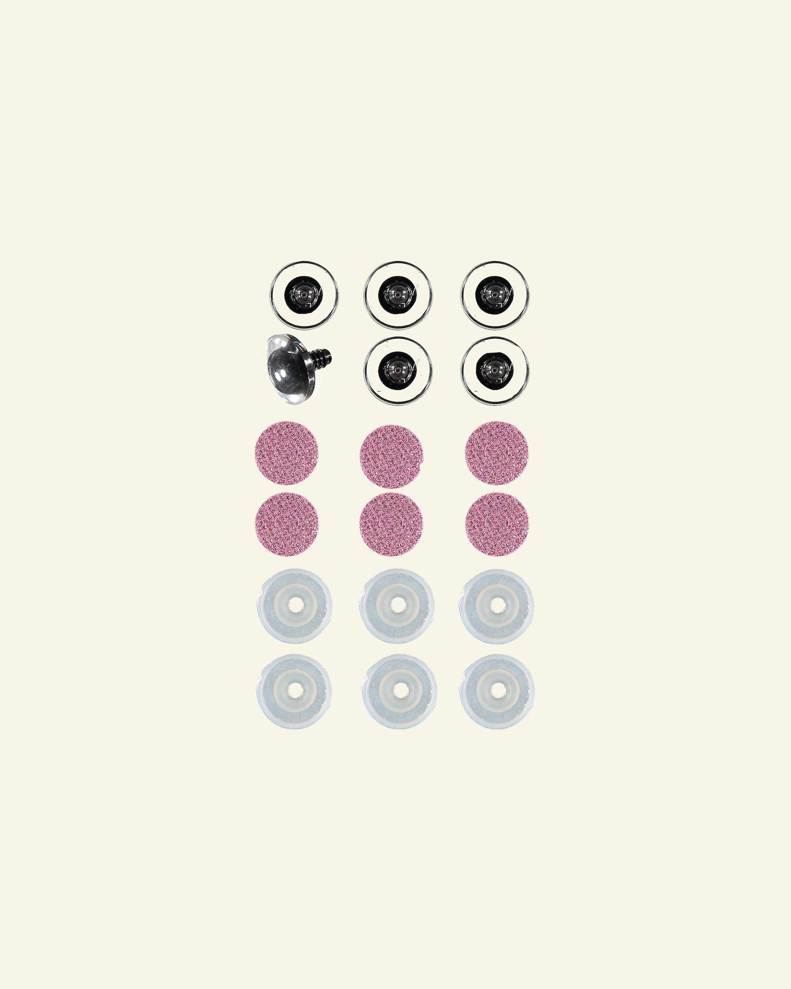 Glitzernde augen 16mm rosa 6 pcs