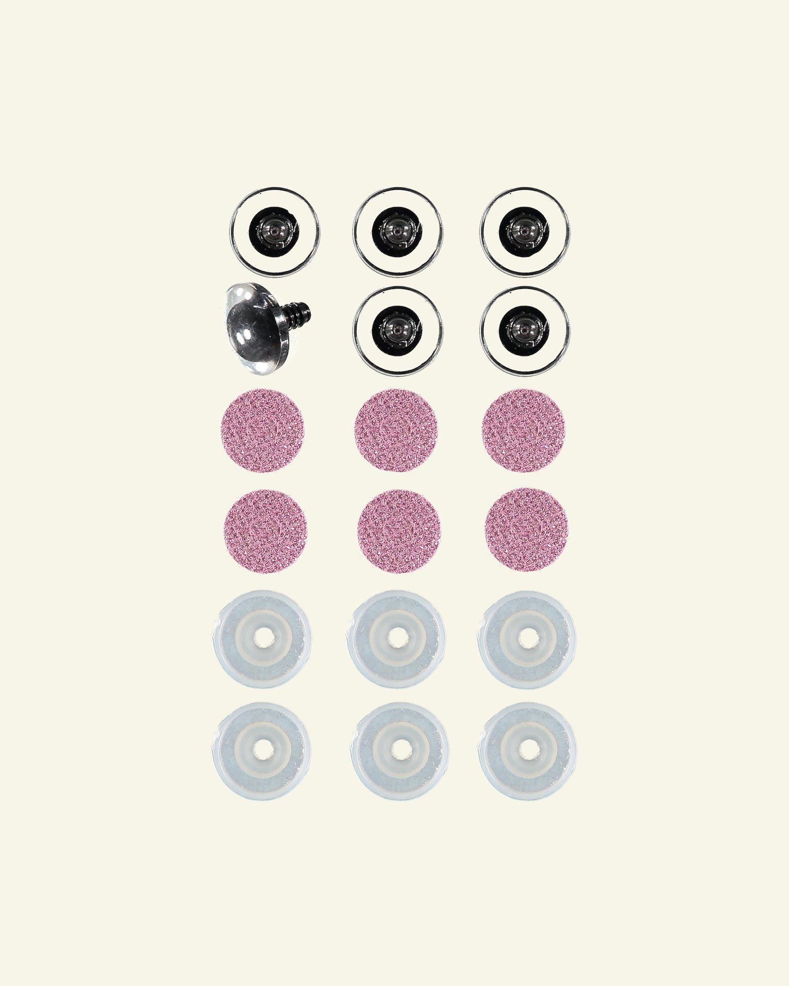 Glitzernde augen 30mm rosa 6 pcs