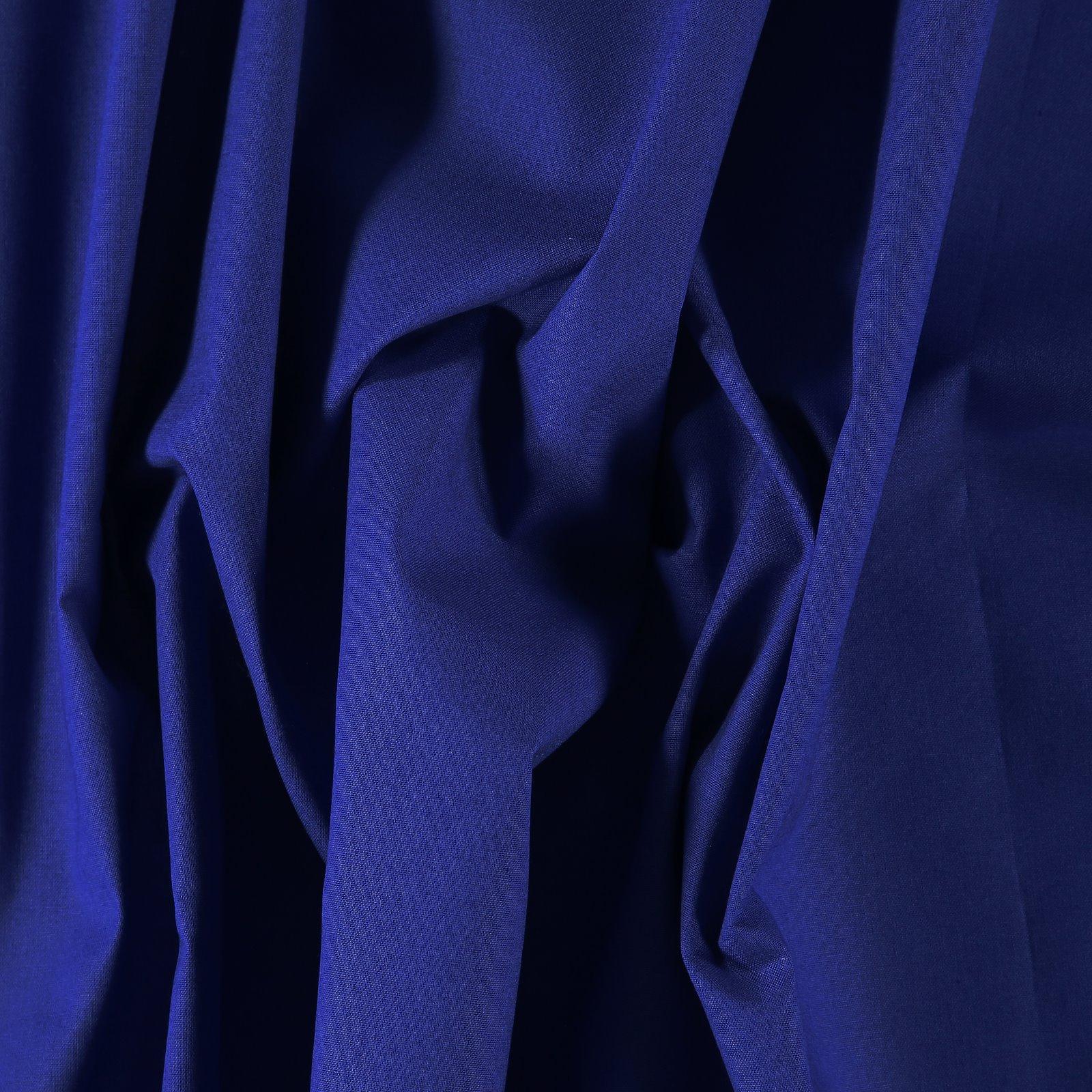 Luxury cotton dark cobalt blue