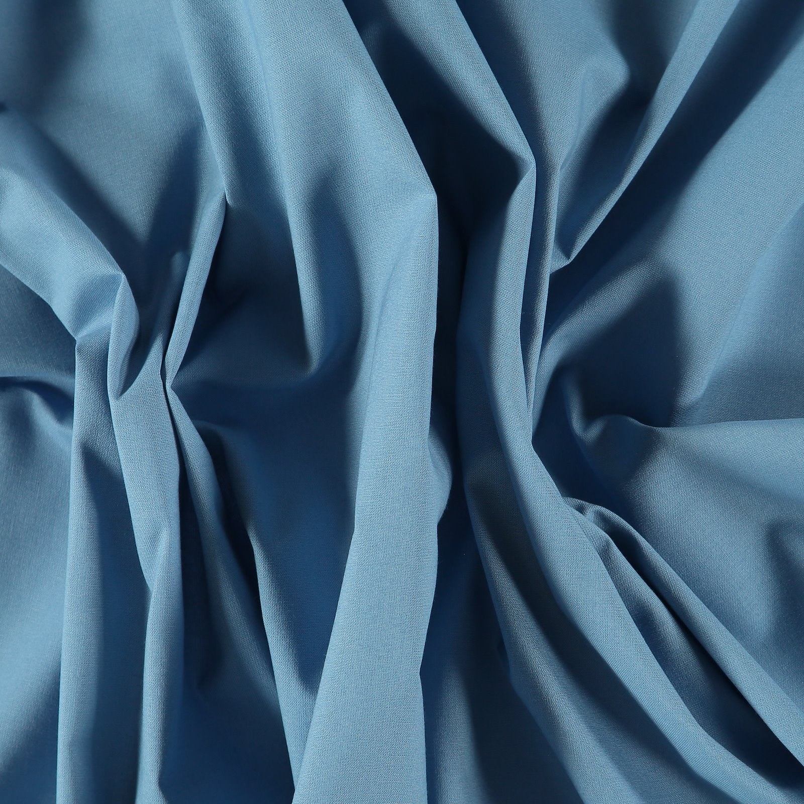 Luxury cotton light cobalt blue