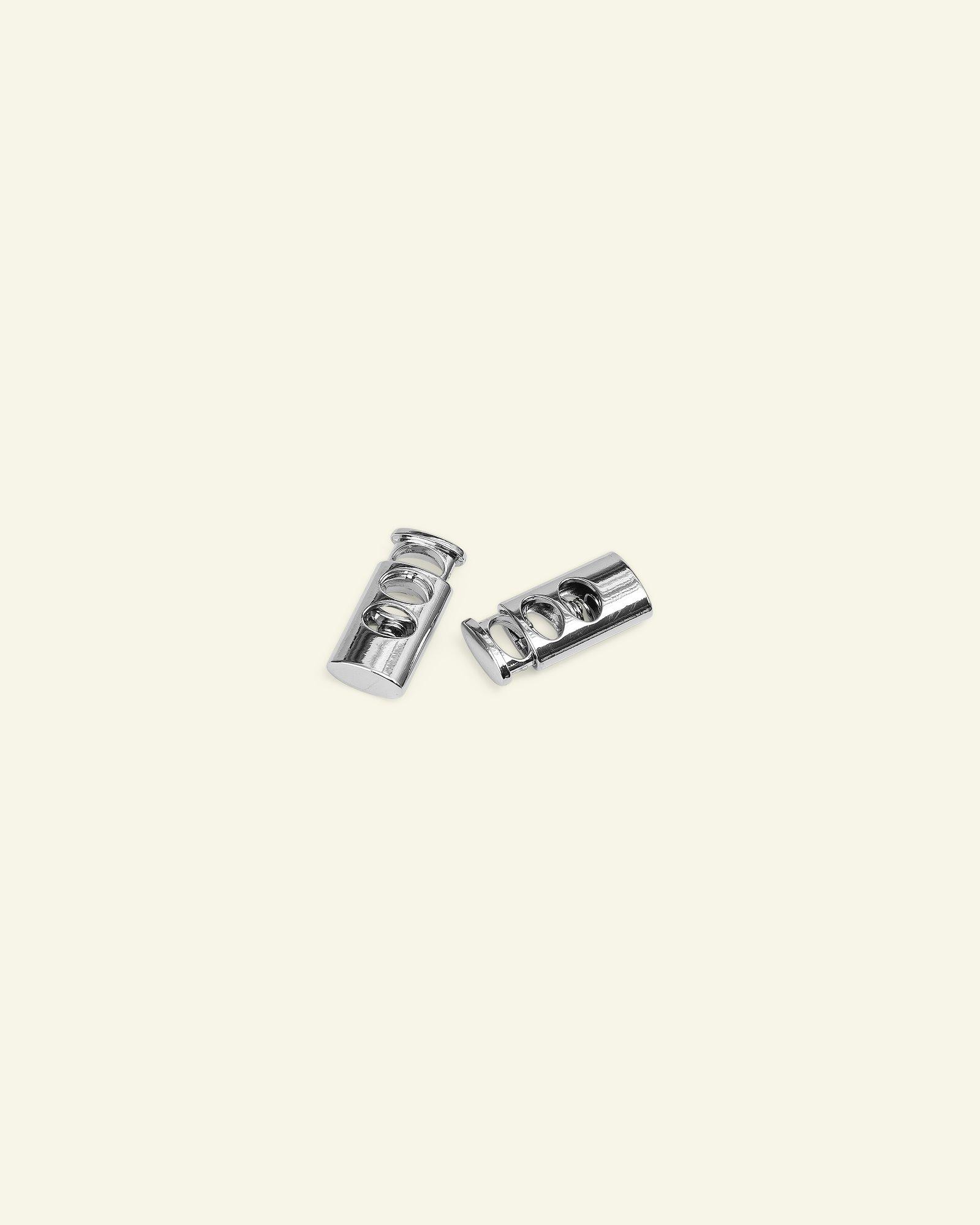 Cord lock metal 28x13mm black 2pcs