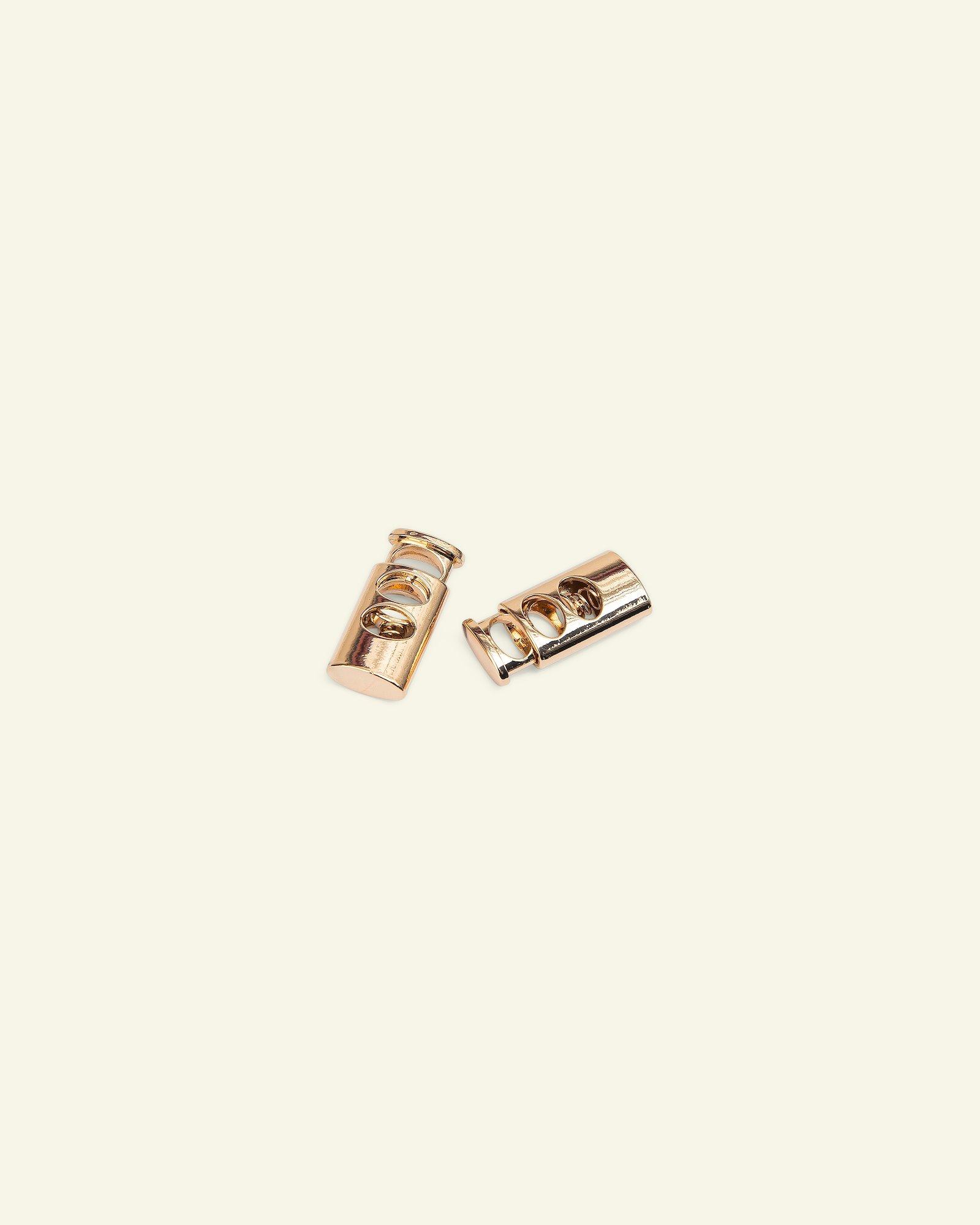 Cord lock metal 28x13mm gold 2pcs