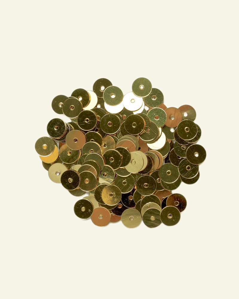 Sequins 6 mm gold 10g