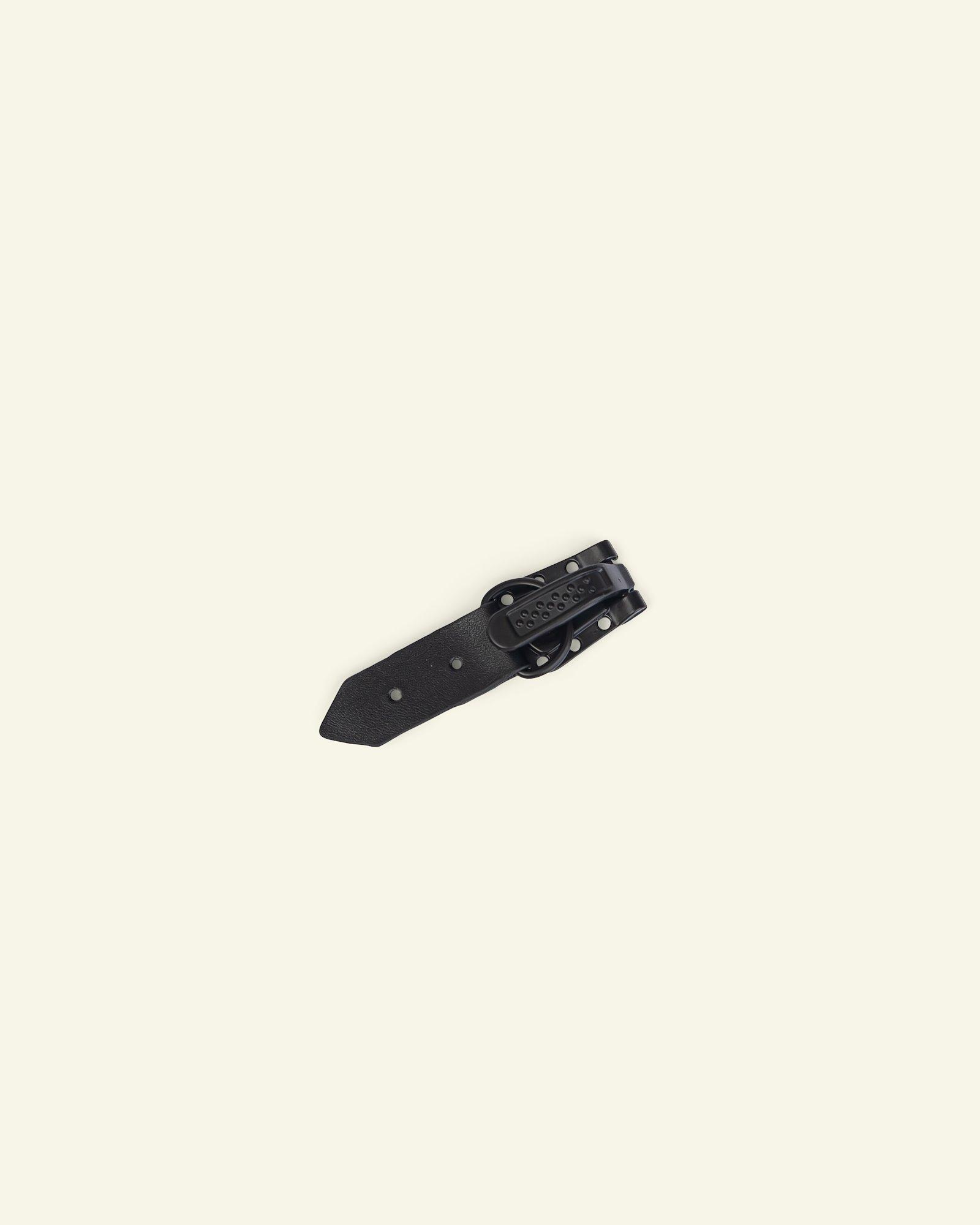 Toggle fast. imit leath. 55x15mm black 1