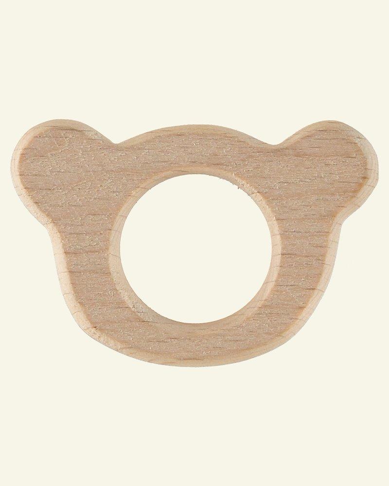 Wooden ring 63x42mm teddy bear 1pc