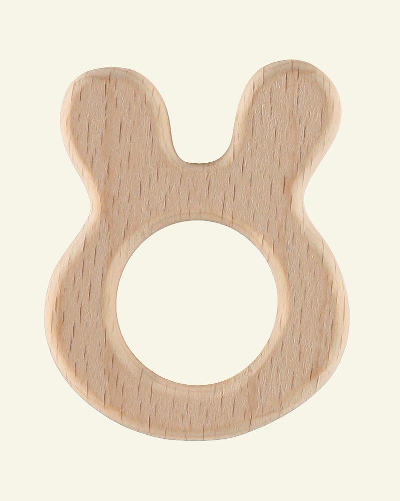 Wooden ring 62x48mm rabbit 1pc