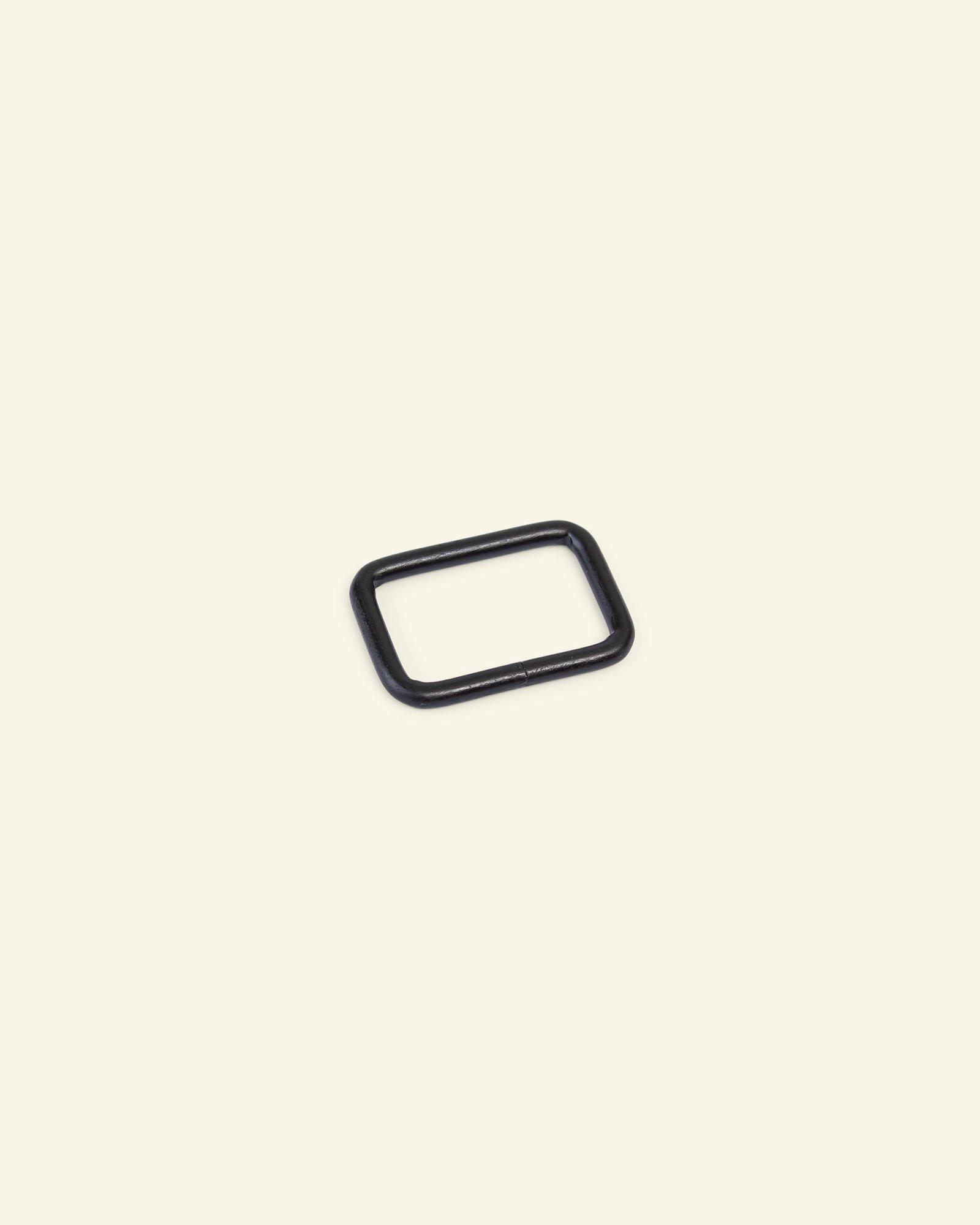 Ring square metal 32x20mm matt black 1pc