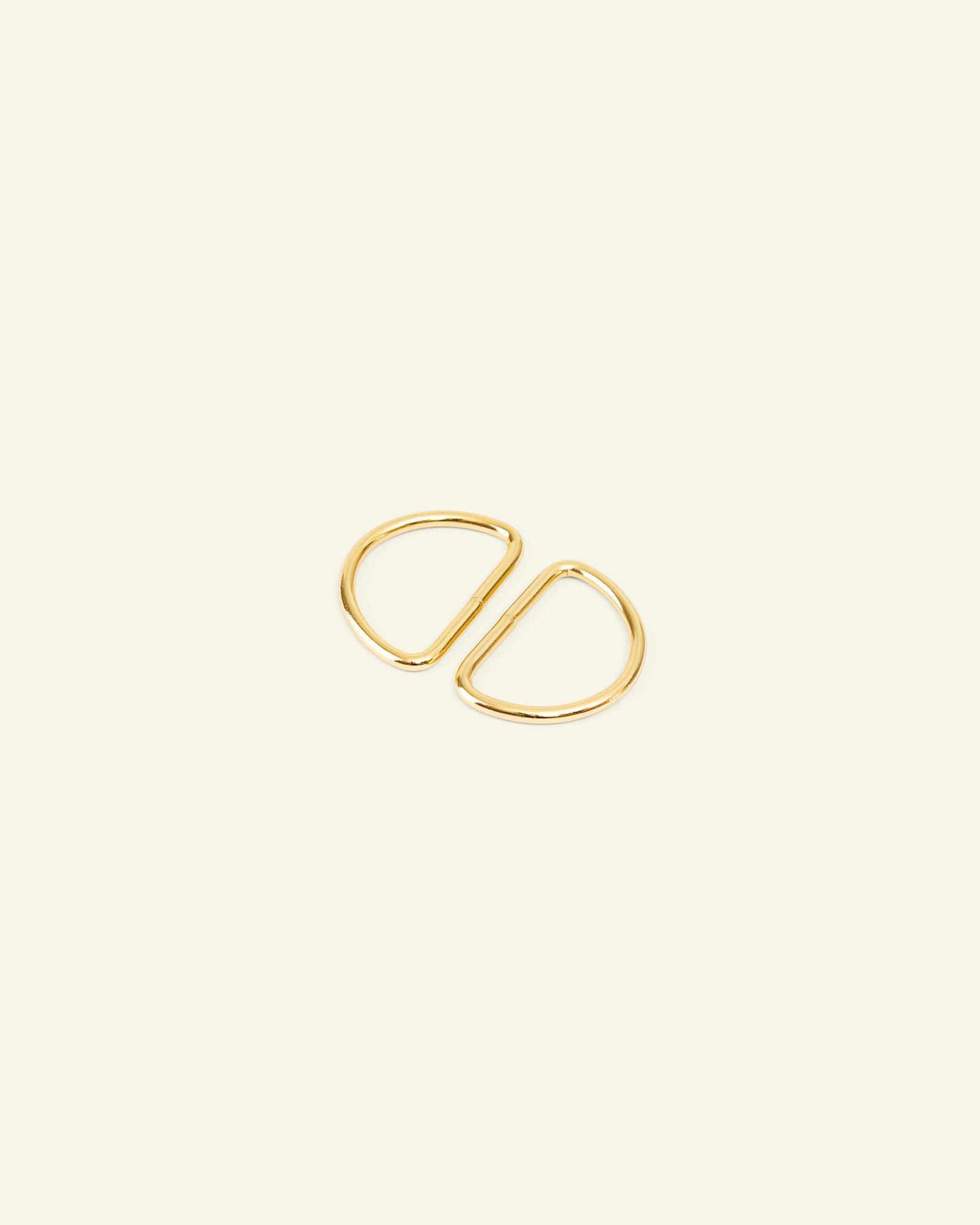 D-ring metal 32x20x3mm gold 2pcs