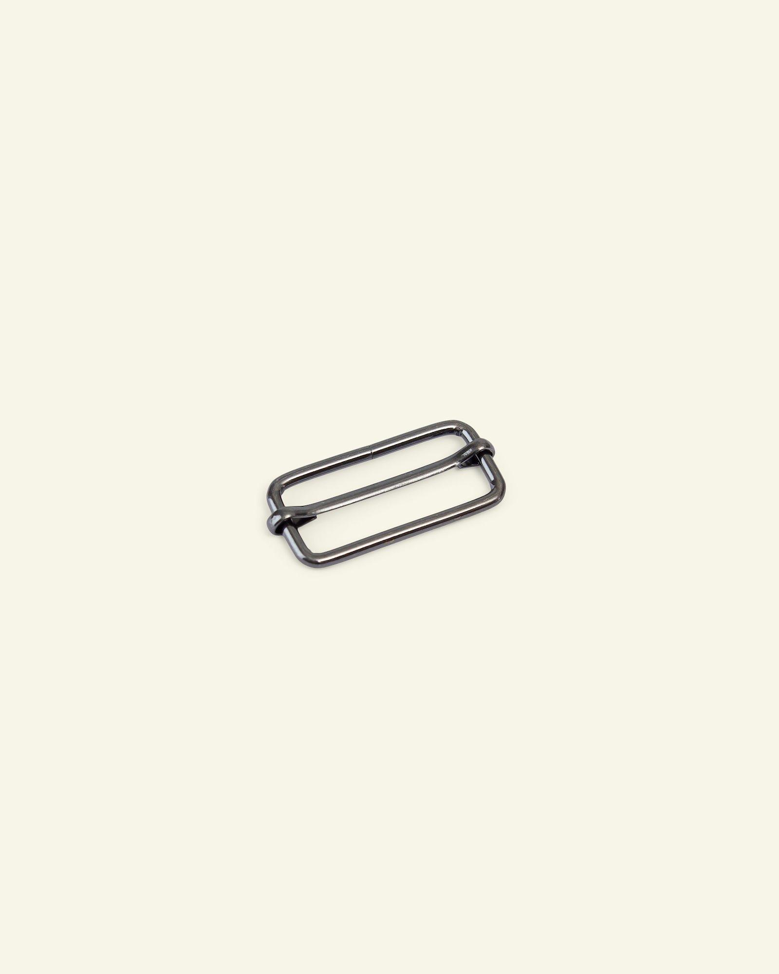 Buckle metal 38x16x3mm dark silver 1pc
