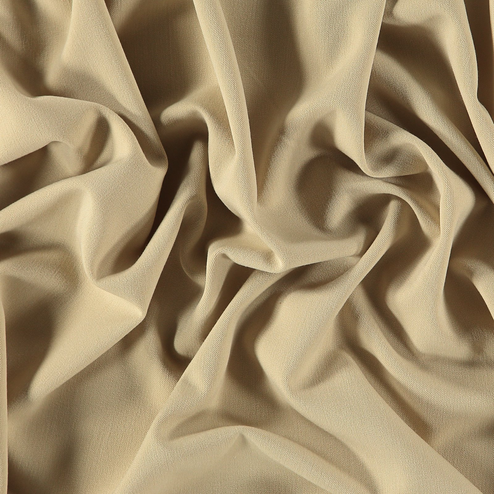 Brushed twill 2-ways stretch sand