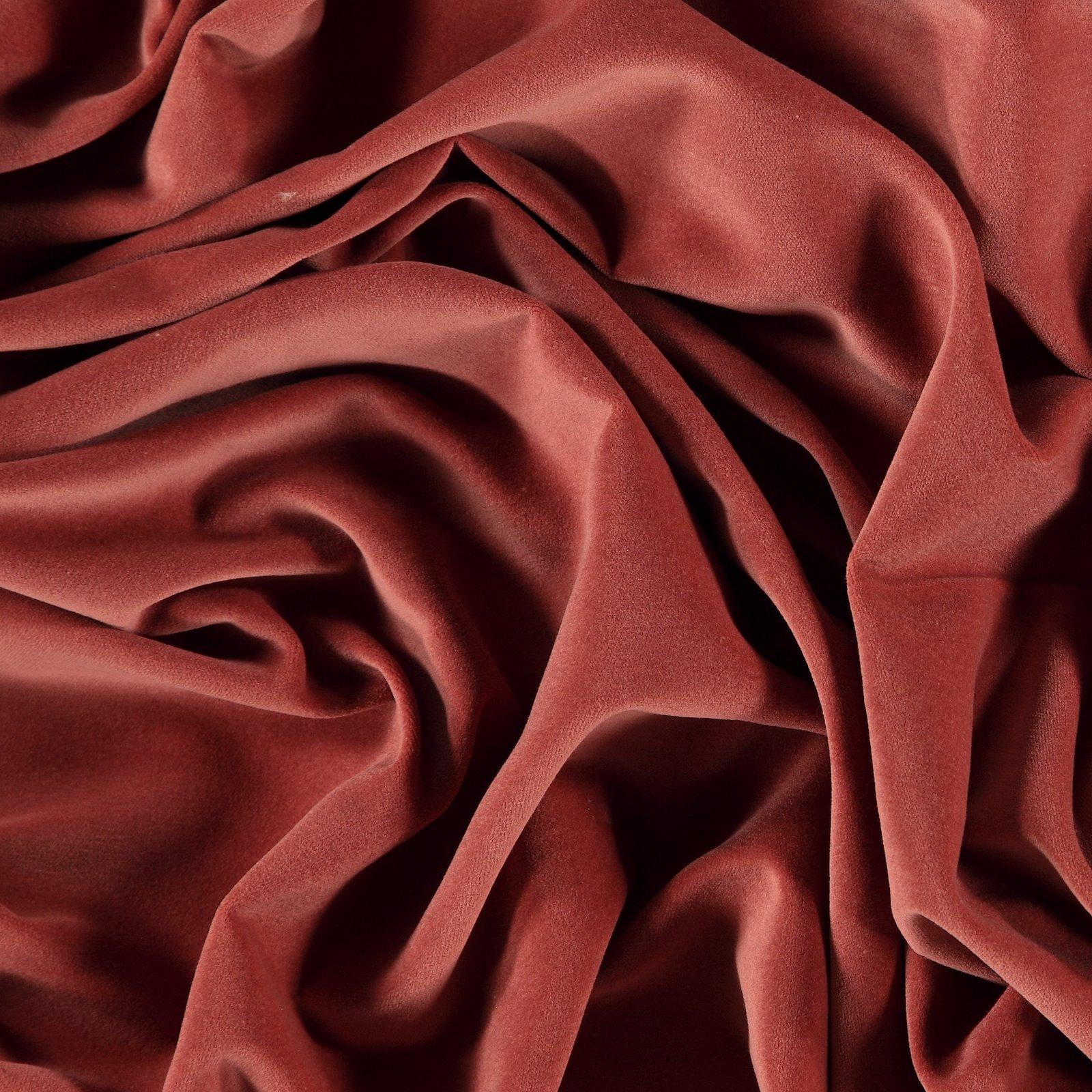 Woven cotton velvet dusty dark rose