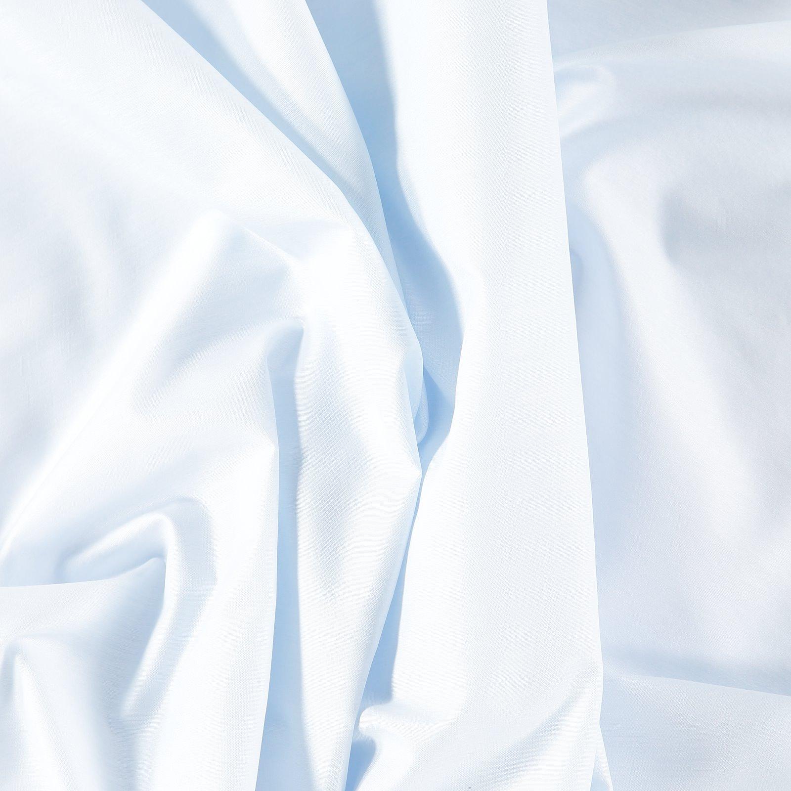 Plain cotton/polyester light blue