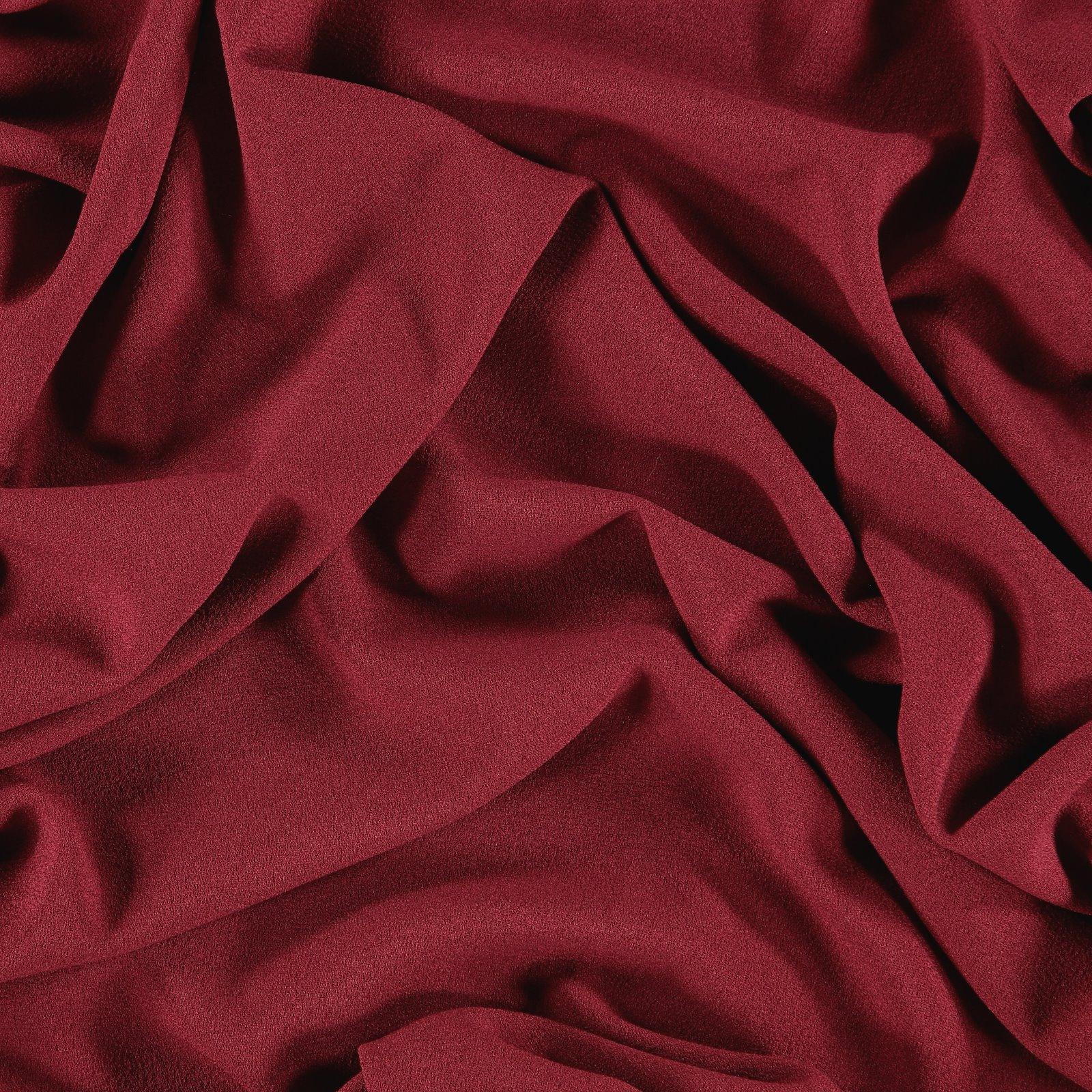 Crepe georgette dark red