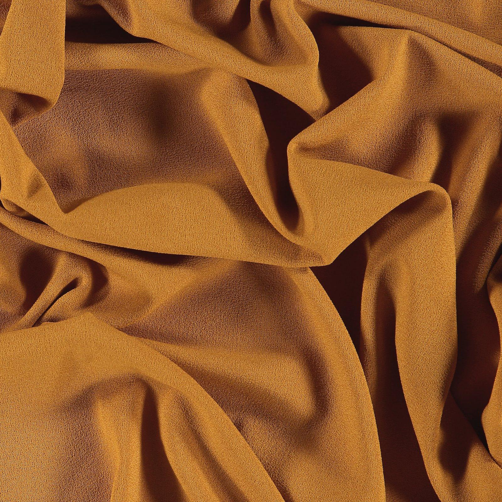 Crepe georgette warm dark yellow