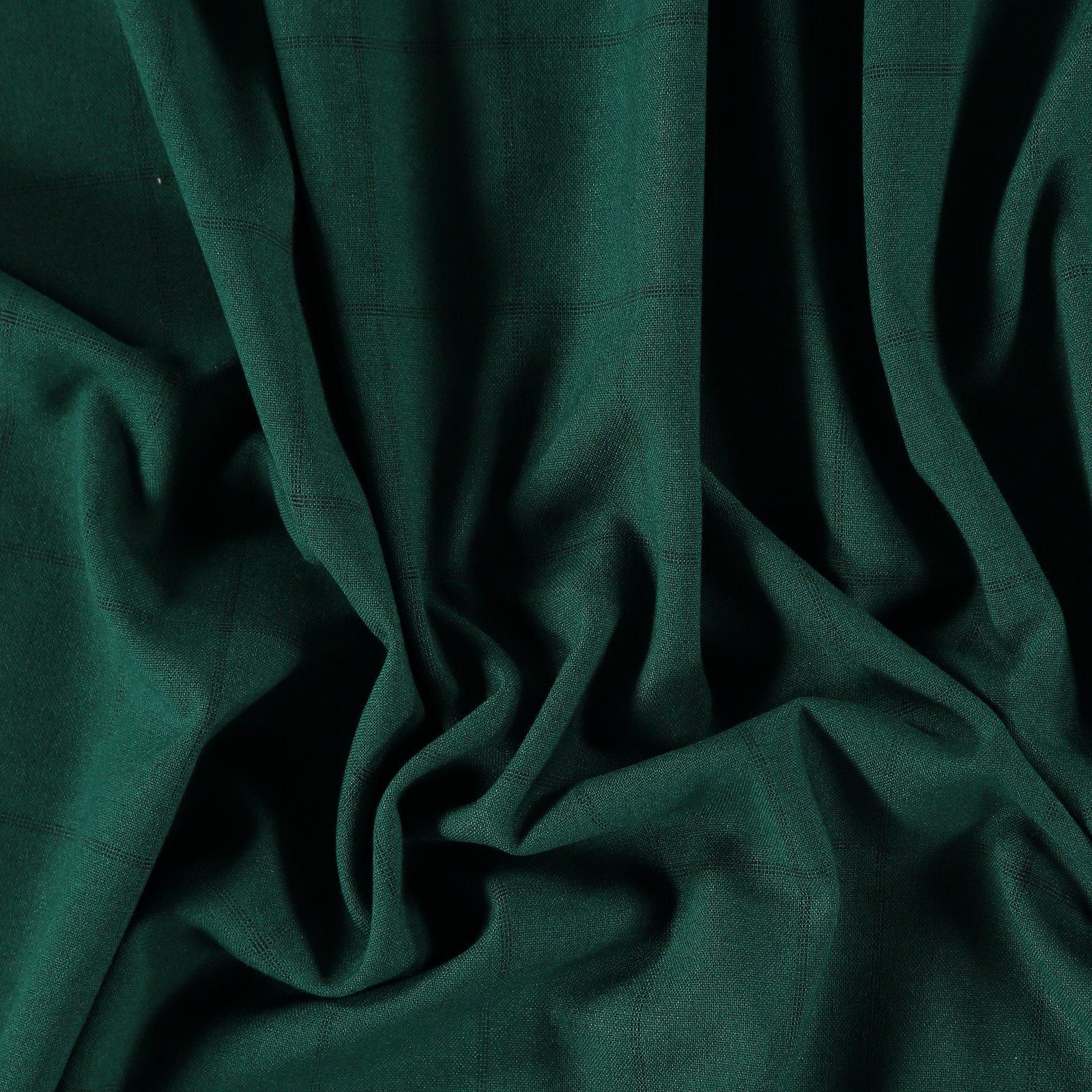 Woven dark green check