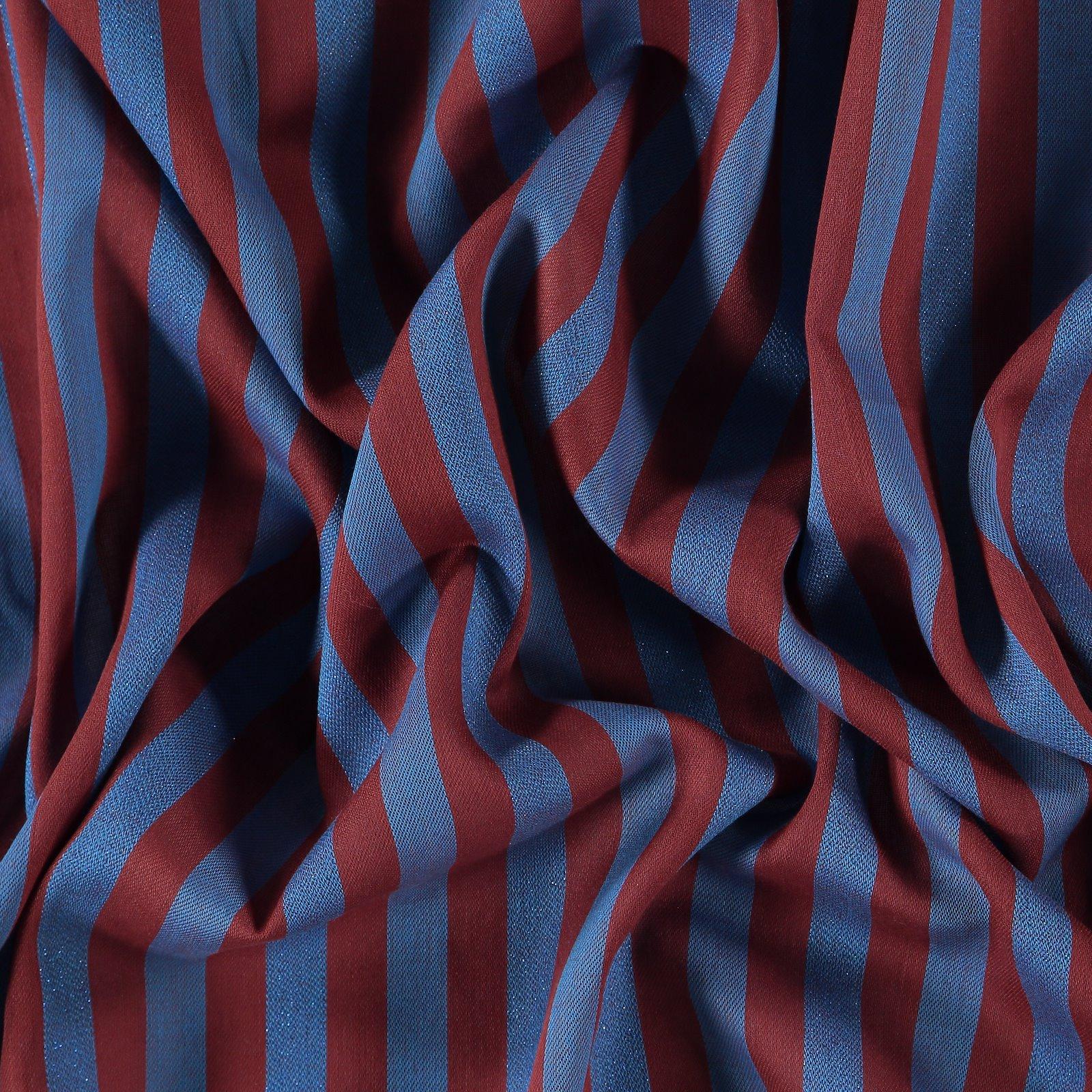 Woven stripe brown w. blue lurex